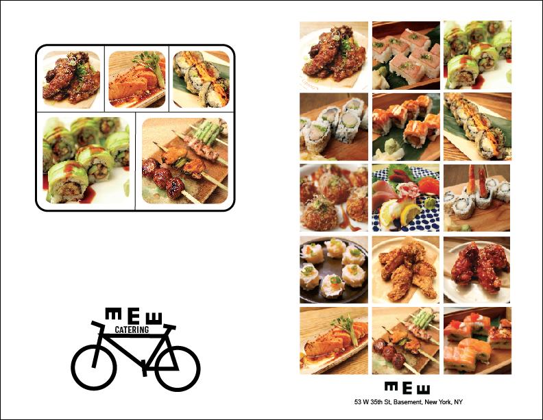 MEW Catering Menu