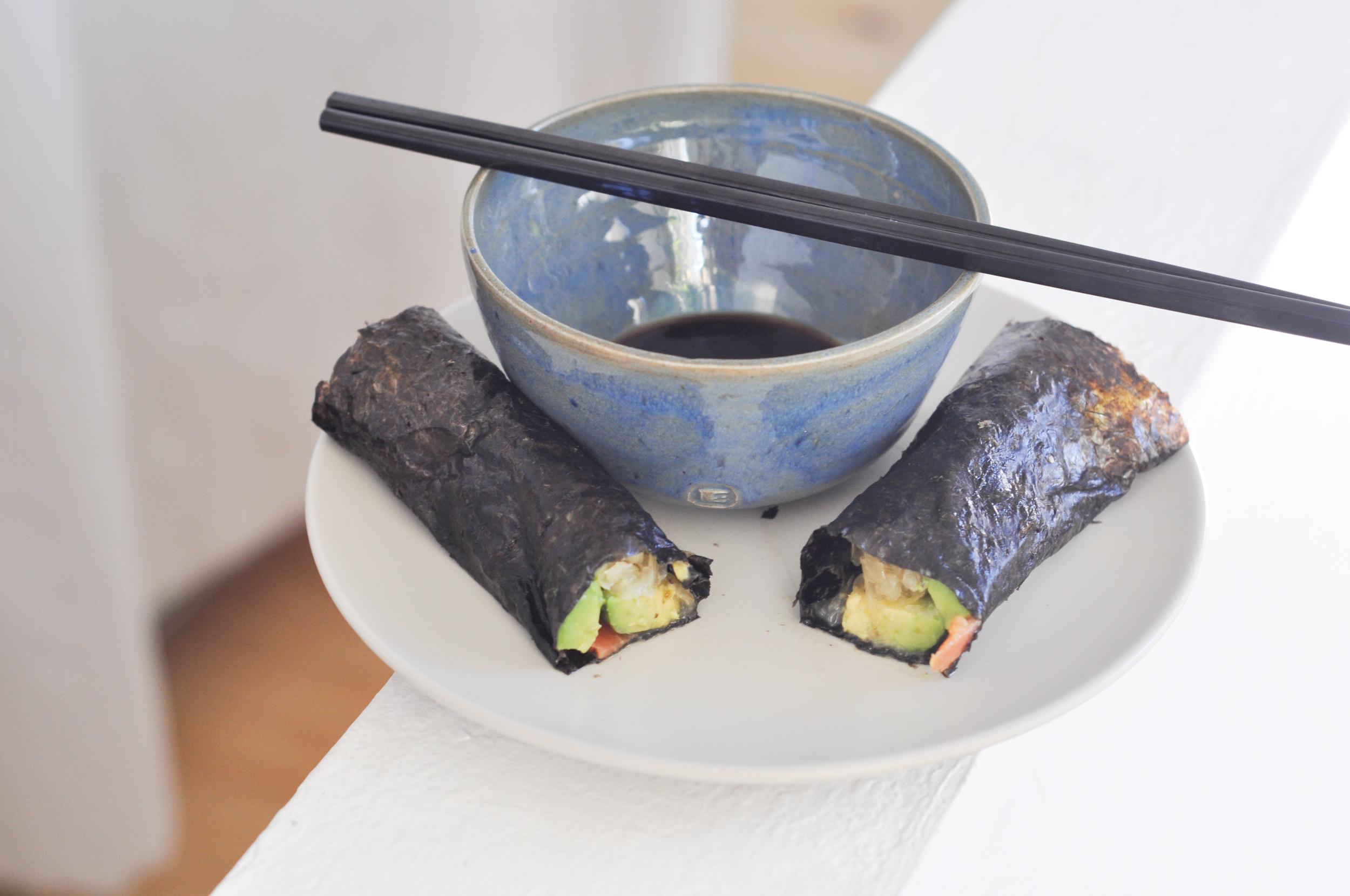 Salmon Kraut Avocado Roll