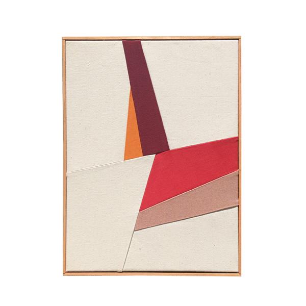 """Meike Legler """"Riding corners"""", 24"""" x 18""""; mixed textiles"""