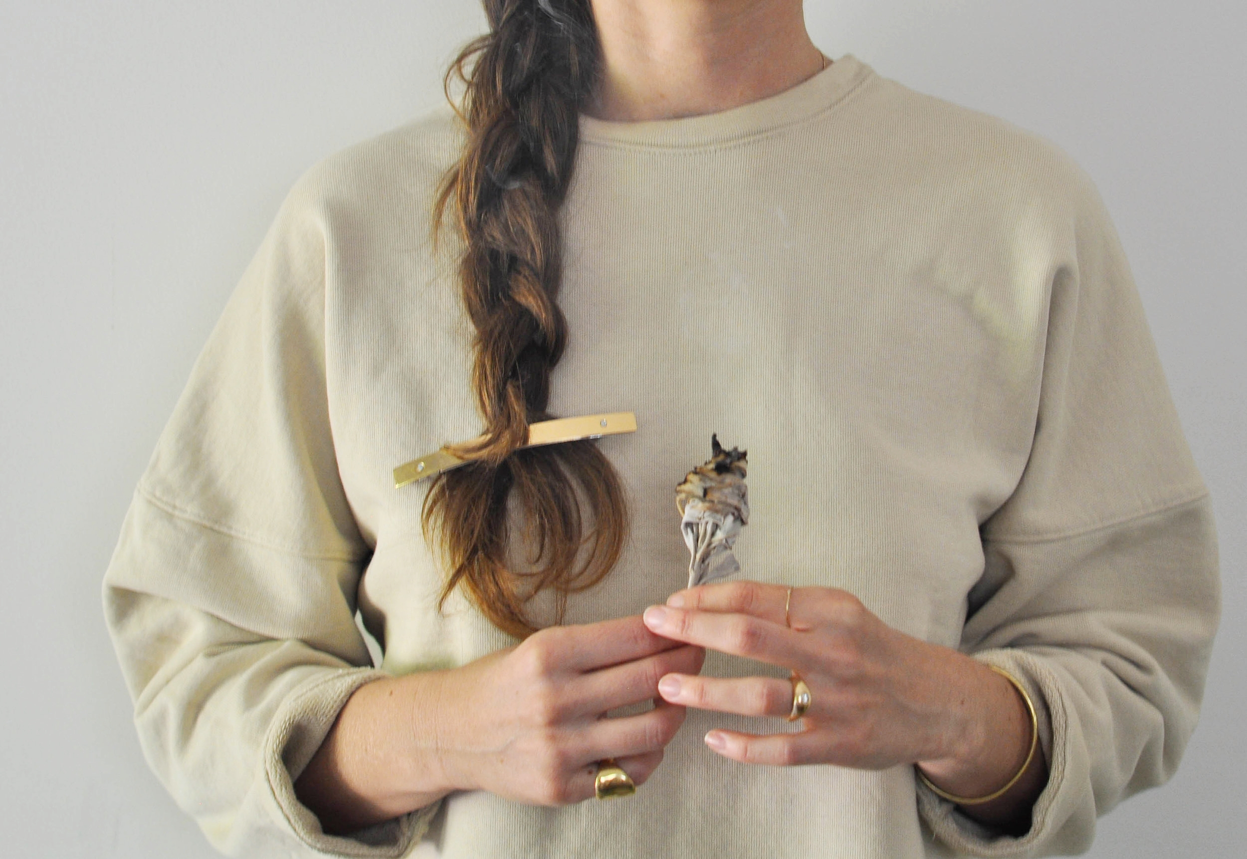 free-and-native-November_Sweater_Sage_Hairclip_pinkyring_bracelet_ring_braid 2 (1 of 1).jpg
