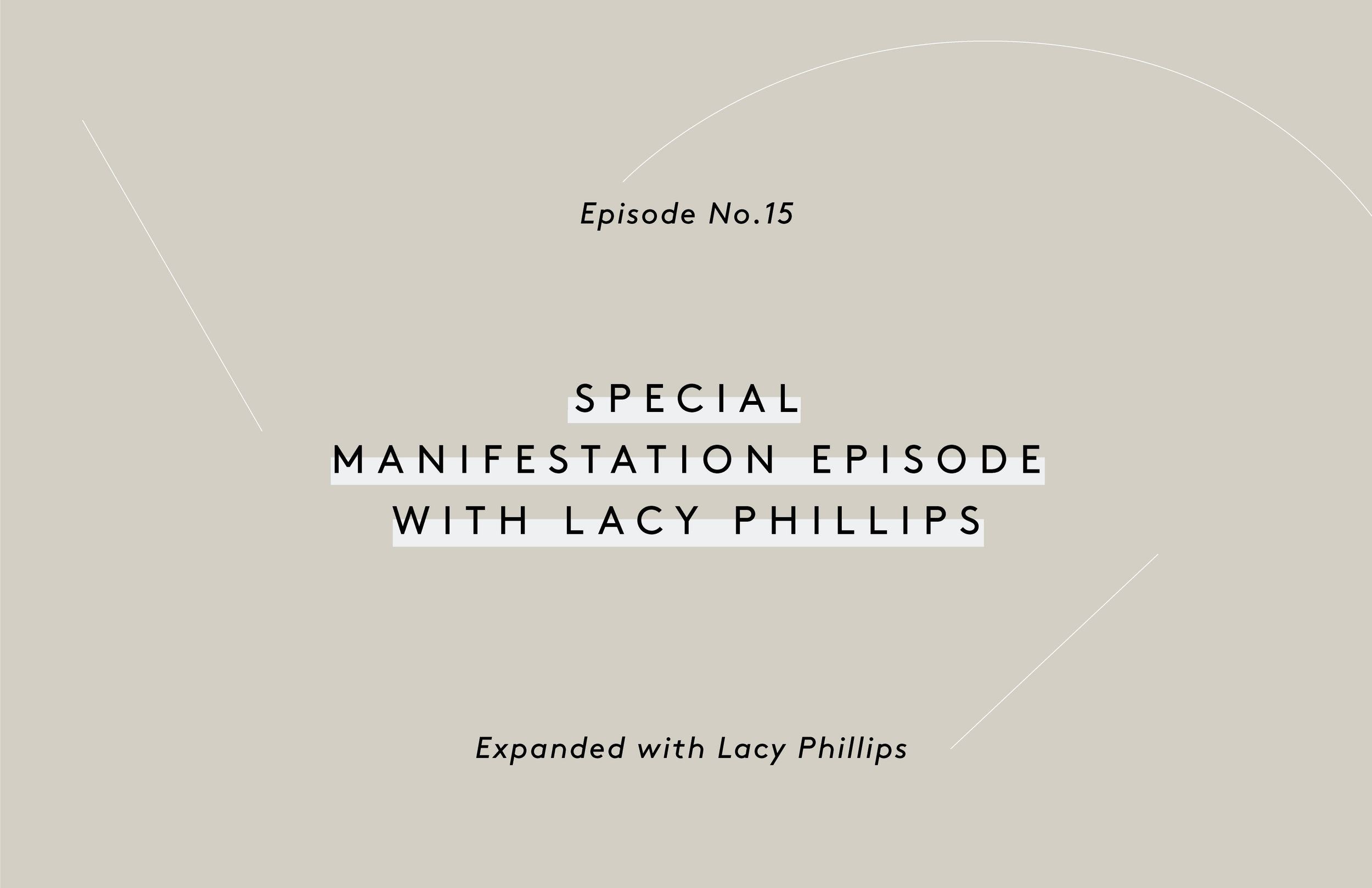 Special Manifestation EP with Lacy Phillips