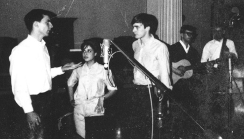 Judy at a recording session