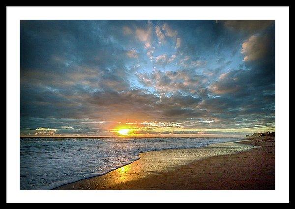 Melbourne Beach Florida Sunrise Framed Print