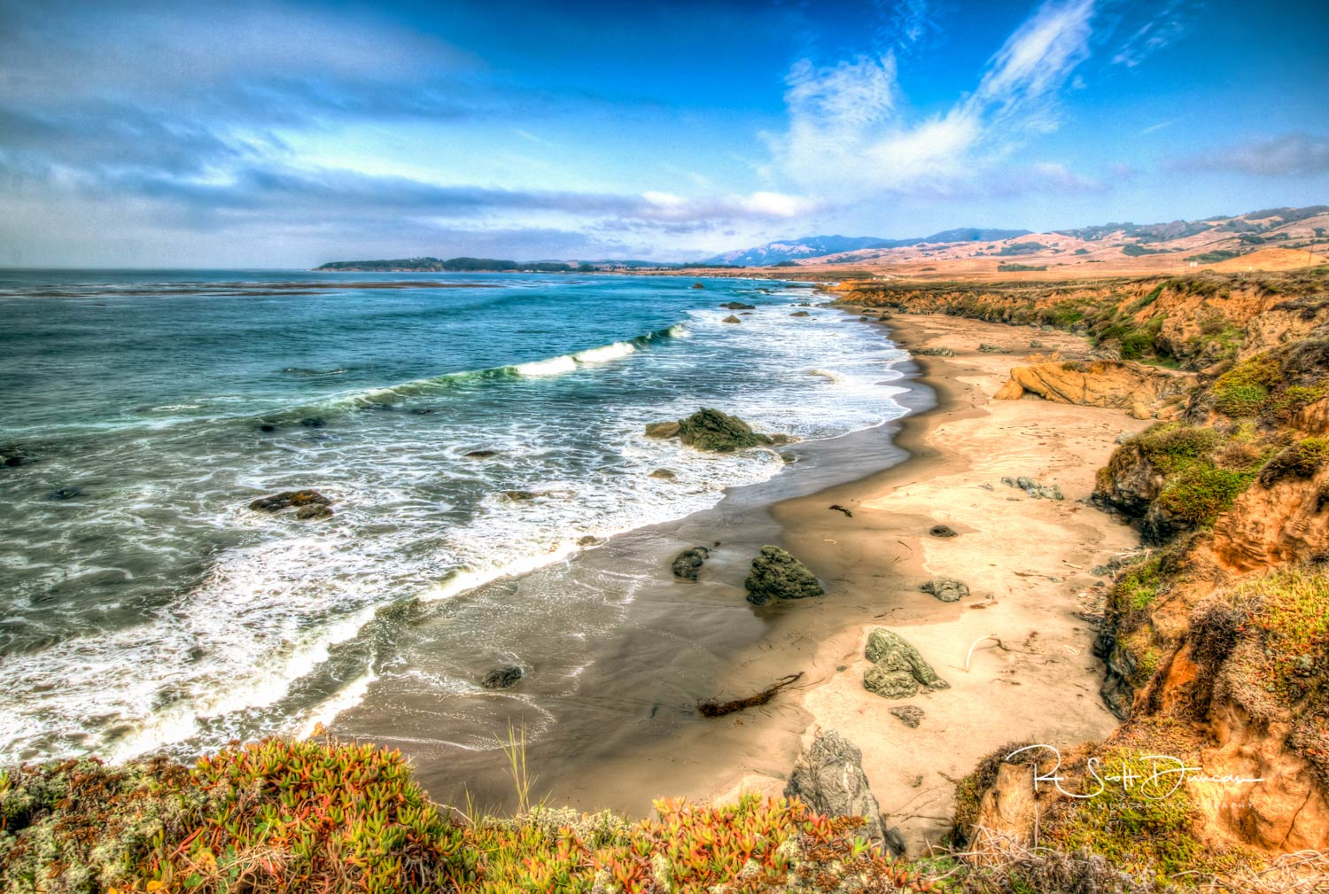 California's Central Coastal Shoreline