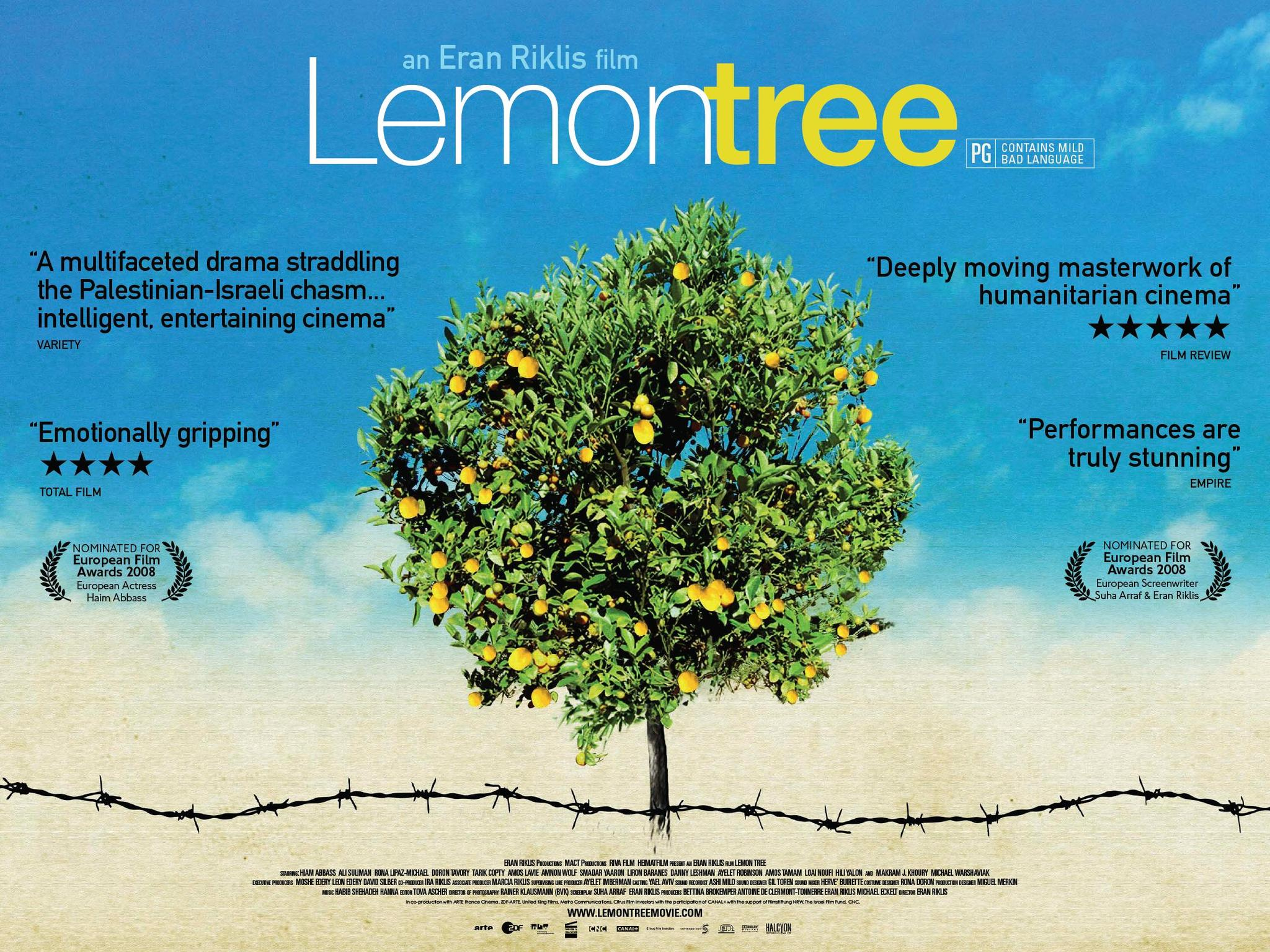 Set in the West Bank, where Palestinian widow Salma Zidane tends her lemon grove. However, when Israeli Defense Minister Navon moves in across the way, his security guards demand she removes the trees, which could shelter terrorists. Refusing to bow down, she engages lawyer Ziad Daud to take her cas e to the Supreme Court, which brings international attention.