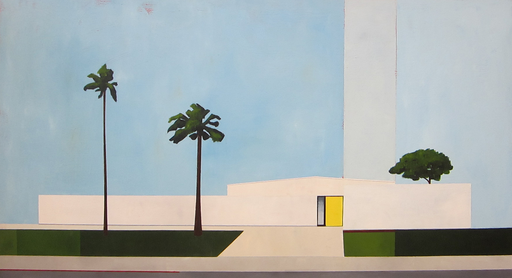 "Wexler House 24"" x 48"" Acrylic on panel"