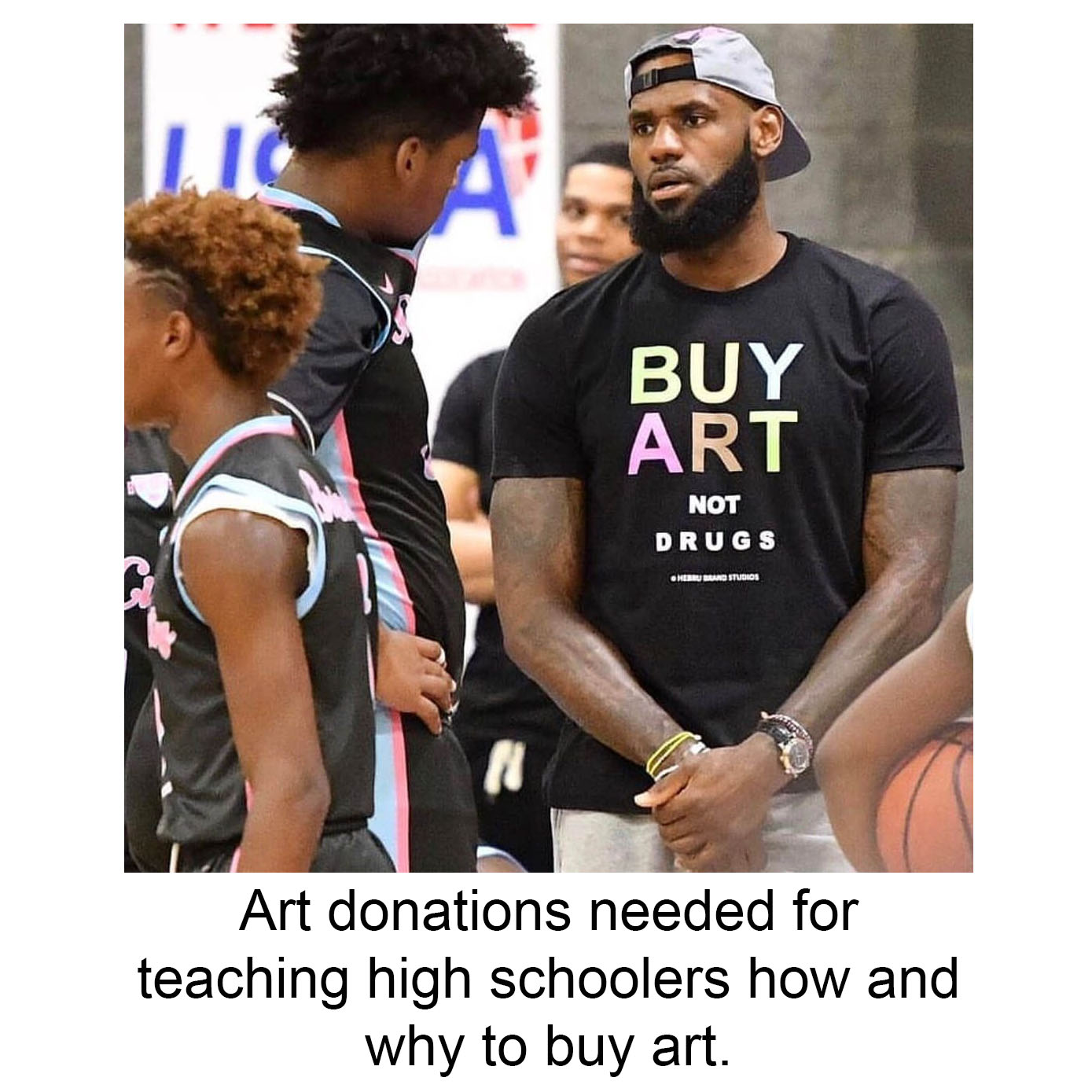 "- justinwheatleyartI want my high school students to have an opportunity to purchase original art. One of my goals as an art teacher is to educate my students on the joy that can be found in having art in their home. Fellow teacher,@clint_whiting, and I are going to hold our first ever ""Buy Art, Not Drugs"" fair to provide students with an opportunity to spend a few dollars on an original work of art. Students will be encouraged to skip something for a day or two and use the money they saved to purchase art that they can enjoy for a much longer time. Instead of a bag of Cheetos, a soda, a coffee, or something else, they can take home a drawing, collage, or some other work of art that they appreciate. As part of the project, we will talk about various celebrity art collectors the students can identify with and why art collecting is important to those people, and how it can add to their own lives.We teach at a public alternative high school and much of our student population is on free or reduced lunch. Money is tight. In order to make this work, art works will be priced from $2-$10. 100% of proceeds will go to programs that provide food, supplies, and glasses for our students.I don't like asking for donations. I understand the work that goes into creating art. Instead of asking for completed paintings or drawings that you have spent hours on, please consider a quick study, drawing, collage, maquette, or other work that is simple but still beautiful. The goal is to have work that the students find interesting enough to want to take home. If you do want to send a finished painting, we won't say no. Artwork done by students will also be included in the sale. The works do not need to be signed or associated with you in any way. Please only contribute works that are appropriate for a high school setting. Students will be encouraged to write a thank you and describe why they found joy in your work. If you include your name and address with the artwork, I will send the thank you to you. Please consider taking part in this project and please spread the word. Send donations by mail before March 21st to:Attn: Justin WheatleyConnection High School501 E 3900 SSLC UT 84107"