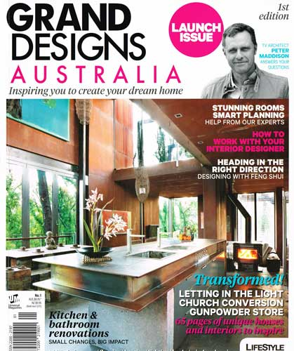 Grand Design Australia  April, 2012 Some words from Julian Brady about designing a new home