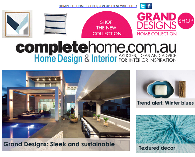Complete Home  March, 2015 One of our Cronulla designs featured in an article about creating a rustic style garden.