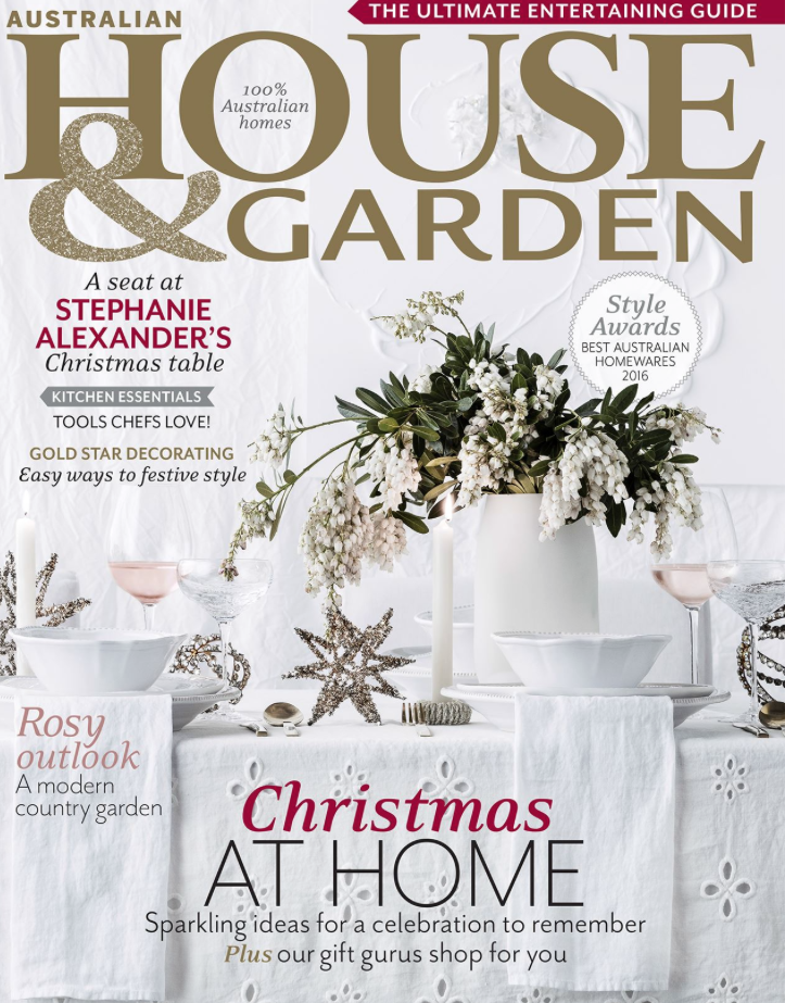 House & Garden Magazine  Dec 2016 Photographic spread on one of our Cronulla designs.