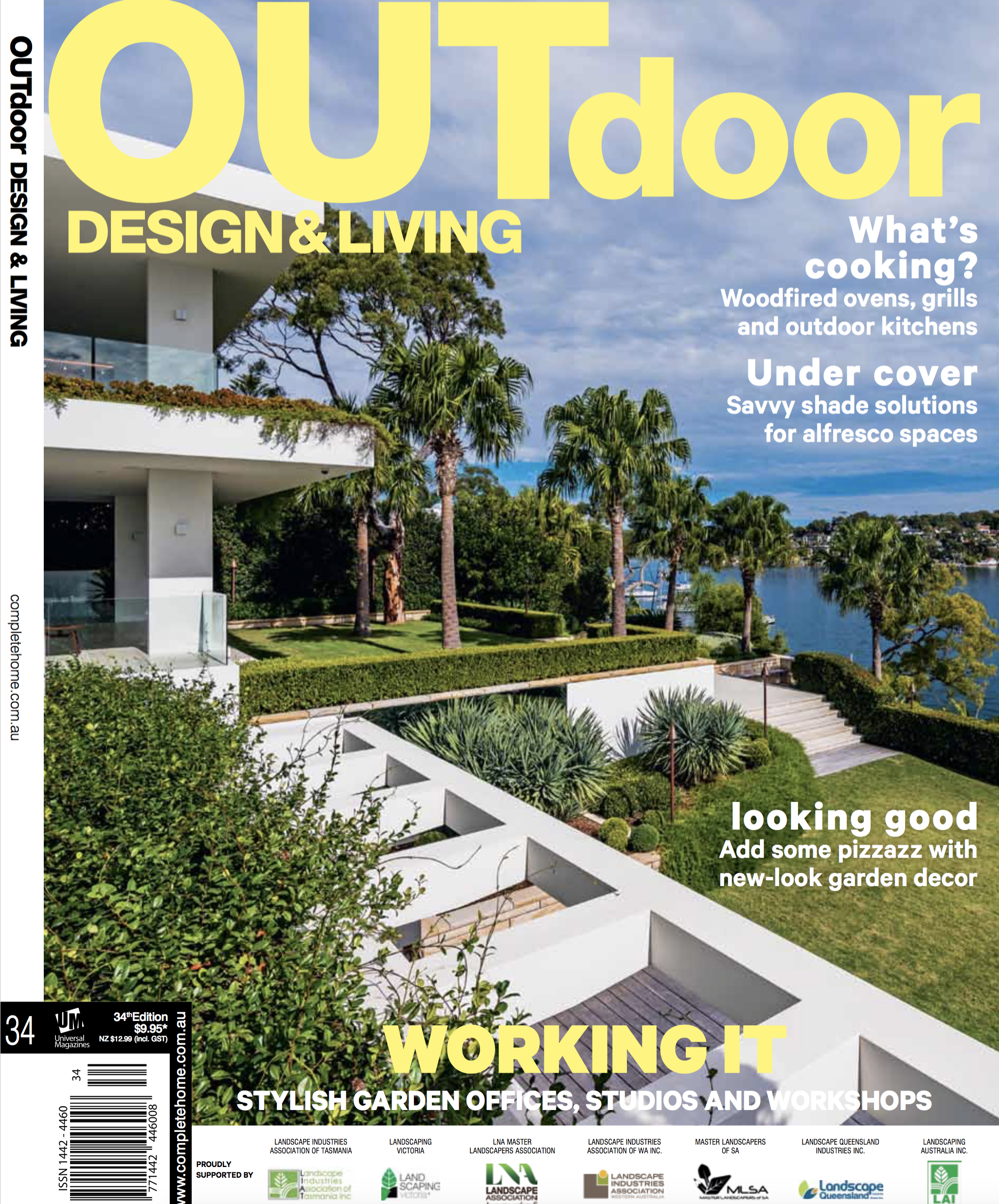 Outdoor Design & Living  February 2017 'Shelley Garden' design featured on cover. Article enclosed about the garden design.