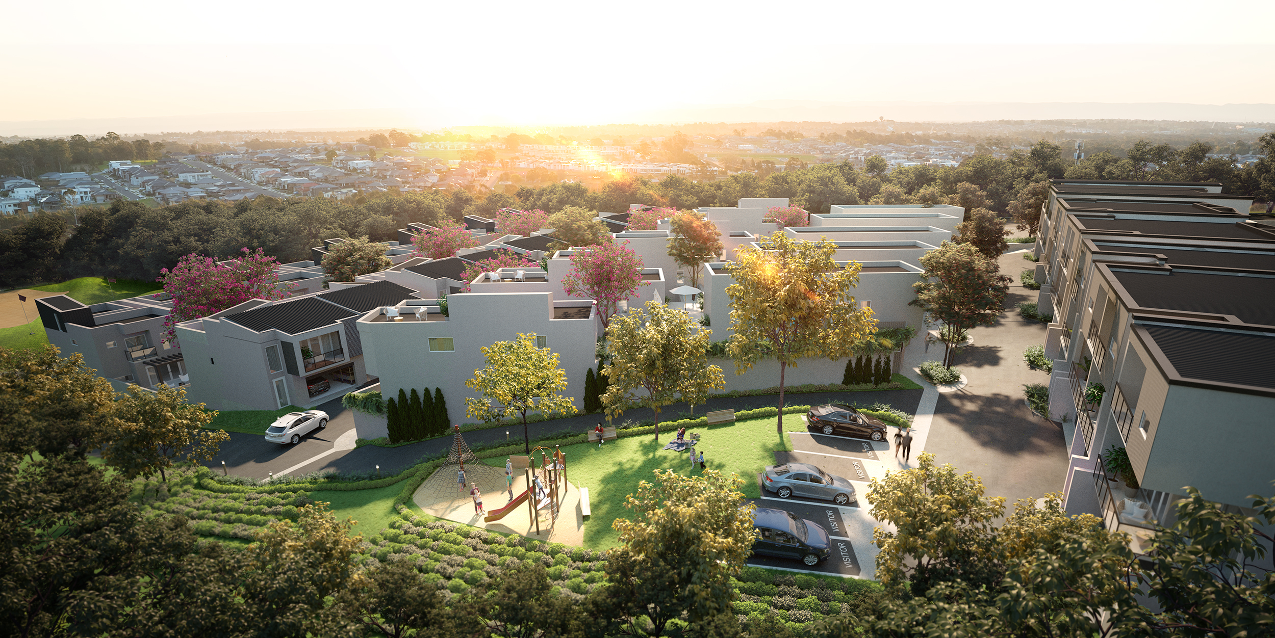 Baulkham Hills, Apartments  Landscape Architectural Design