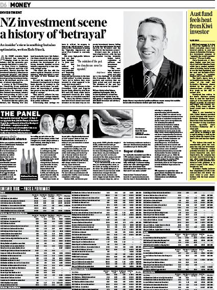 "Sunday Star Times: ""Aust fund feels heat from Kiwi investor"" - February 2010"