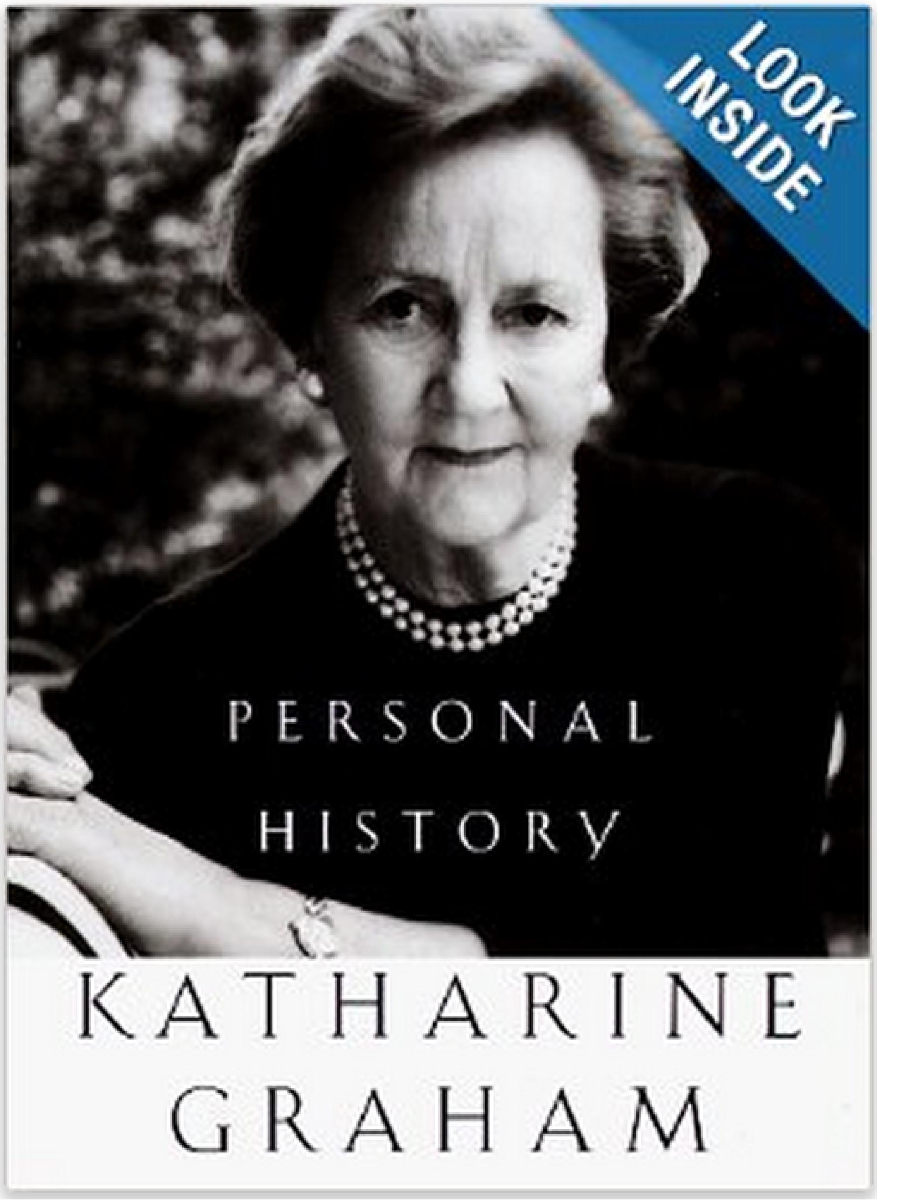 Personal History.     Katharine Graham    1997