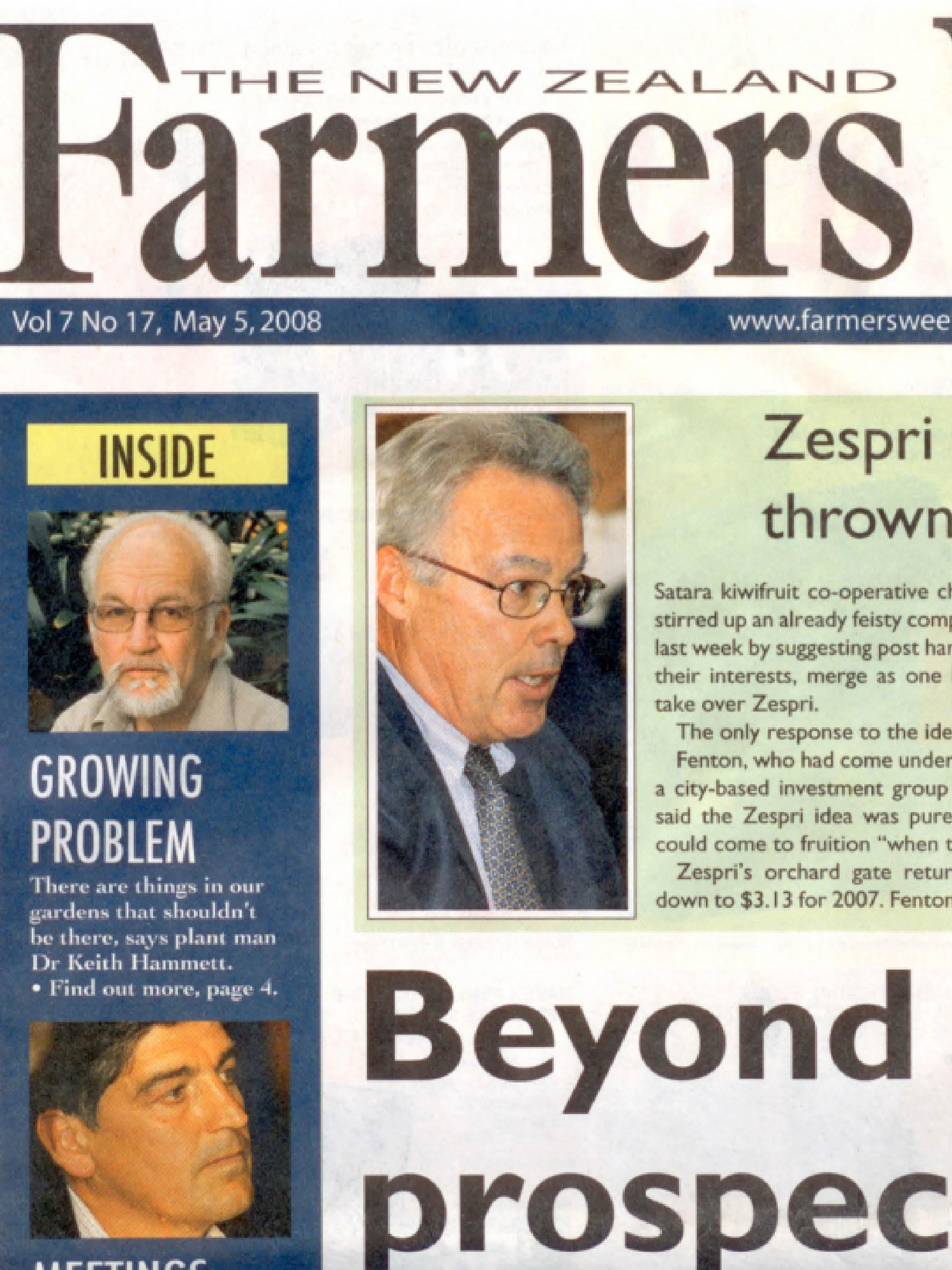 "NZ Farmers Weekly: ""Satara"" - May 2008 (Pg. 1)"
