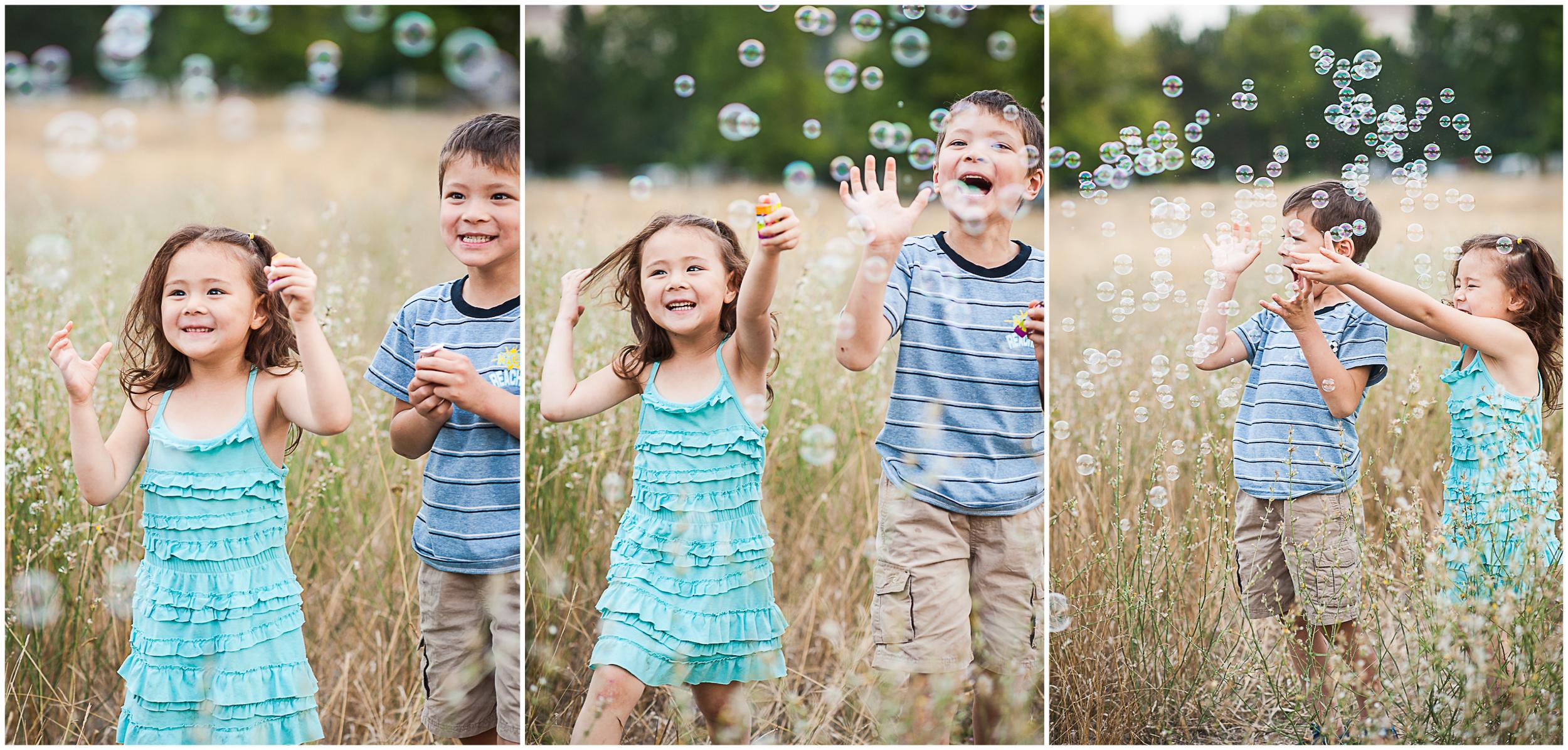 bubbles, siblings