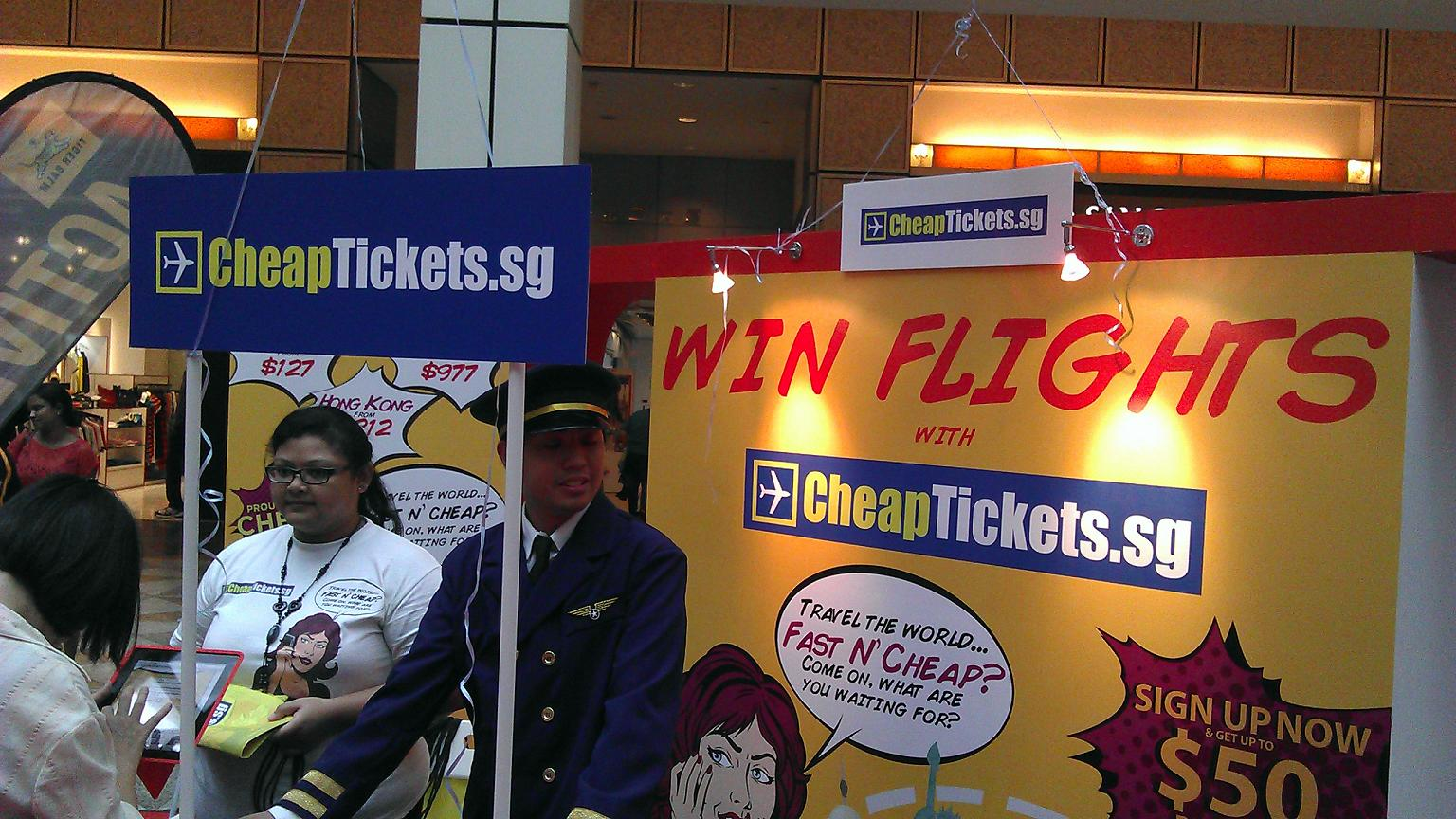 CheapTickets Main Booth