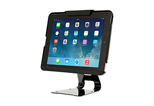 iPad Security Case with steel cable, lock, and key