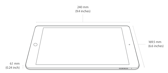 Dimensions of the iPad Air 2