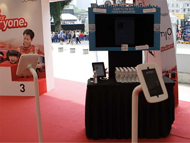 Read our case study on the use of kiosks for your event at  https://www.touristpads.com/#case-study