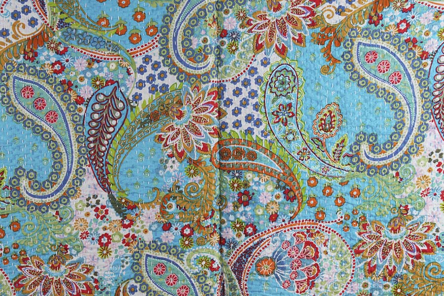 €100 now €70 COTTON KANTHA BED COVER 152X230