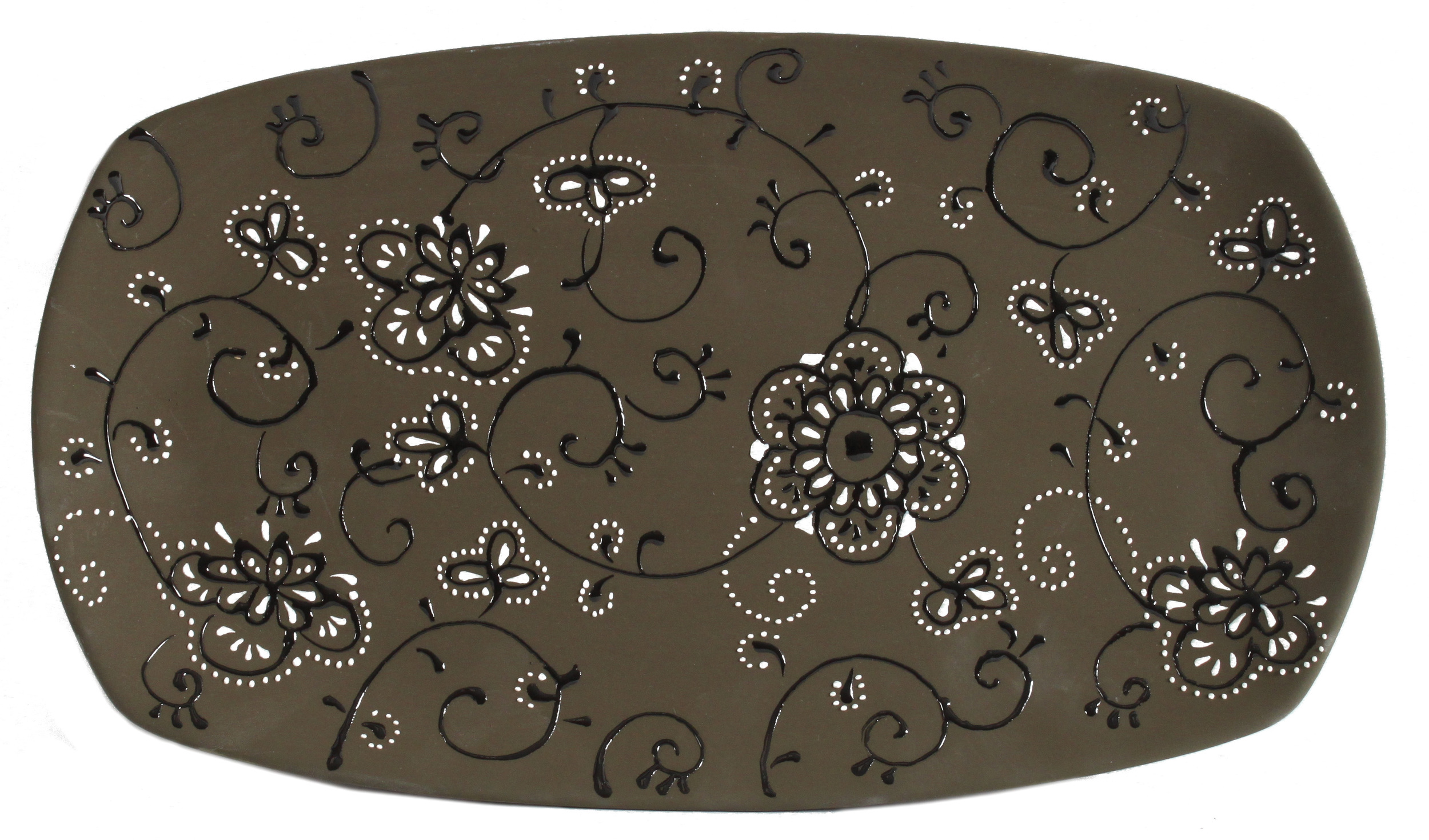 €20 BROWN CER PLATE 37X21