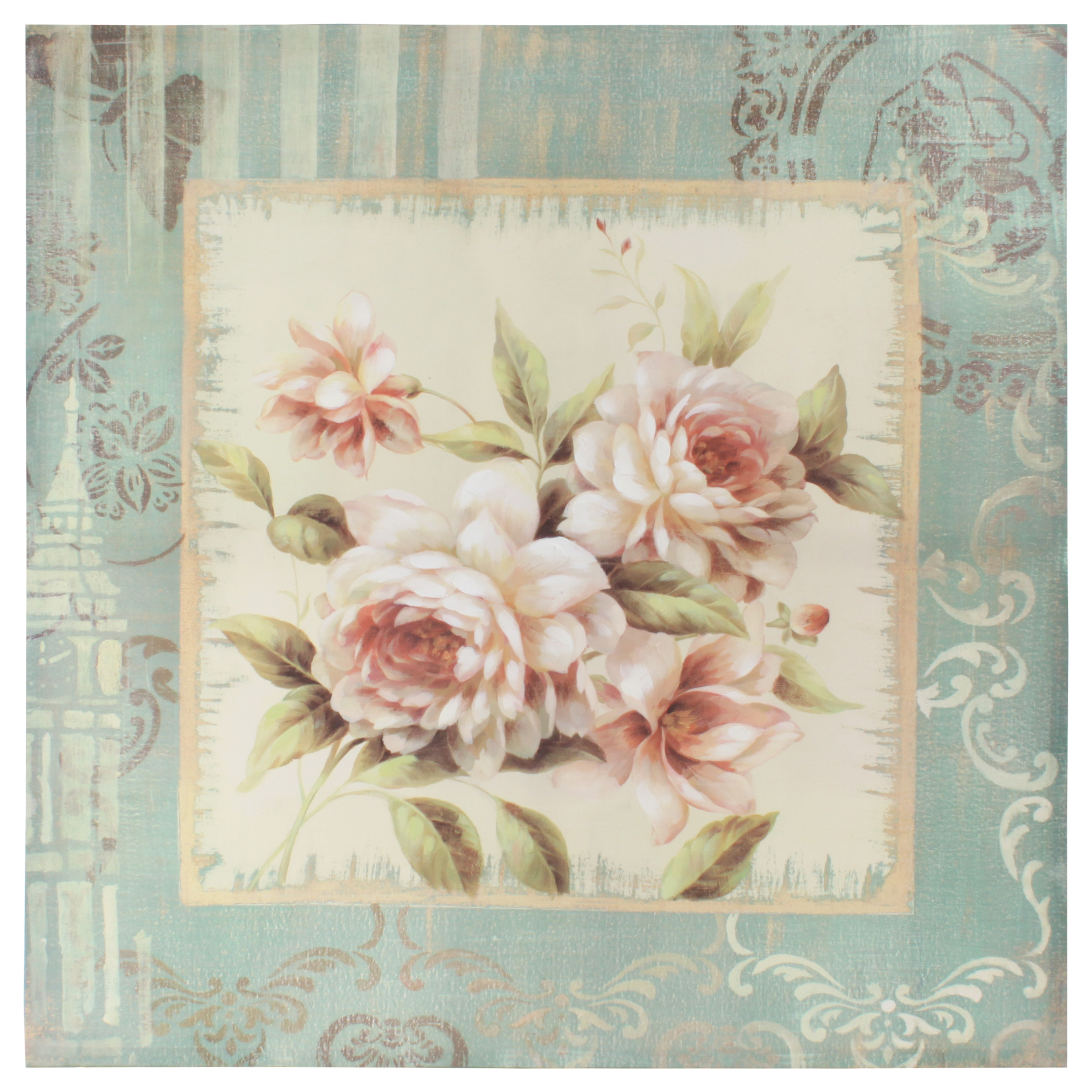 €78 CANVAS OIL WALL PAINTING WITH ROSES 80X3X80