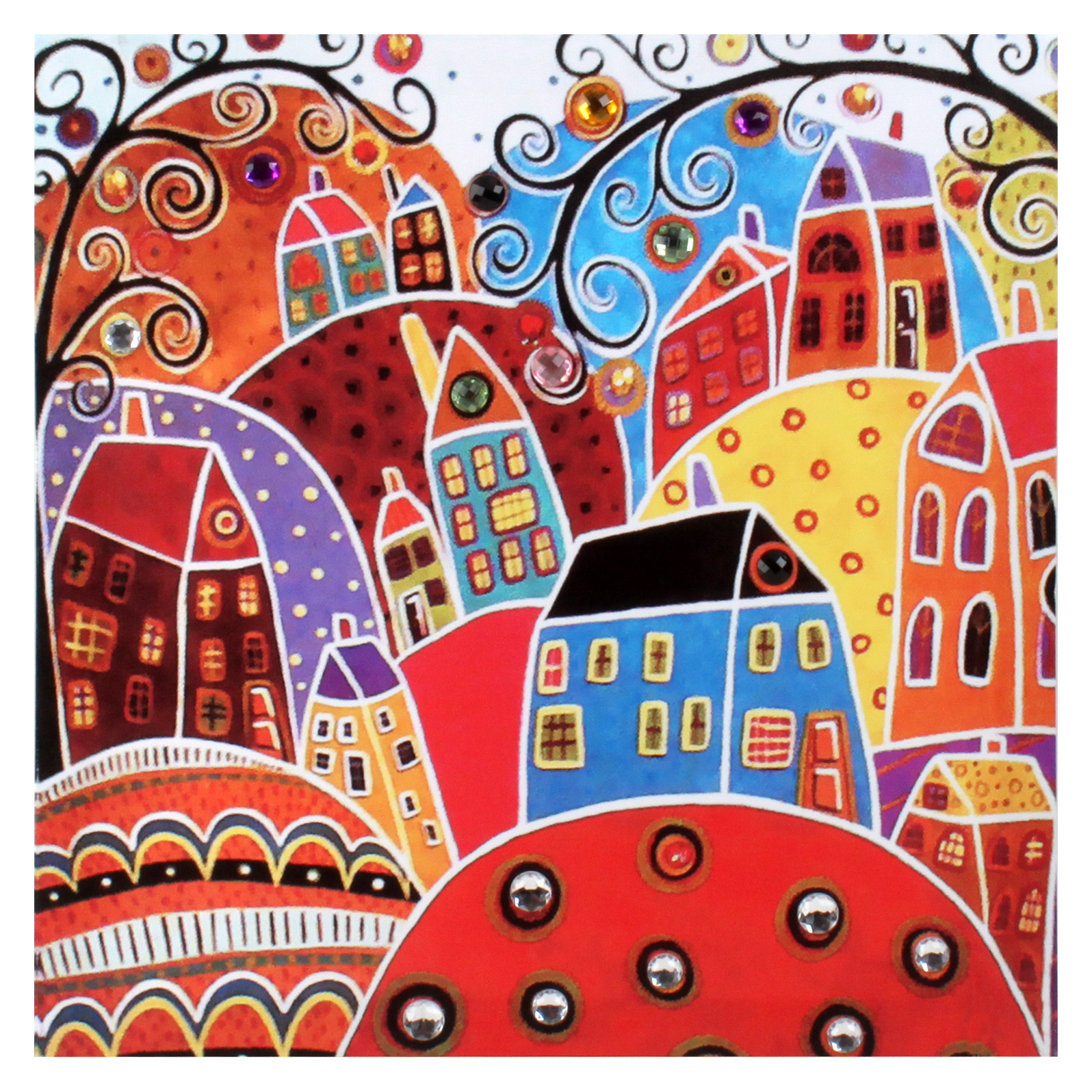 €15 WALL PAINTING PRINTED CANVAS W/STONES 40X2X40