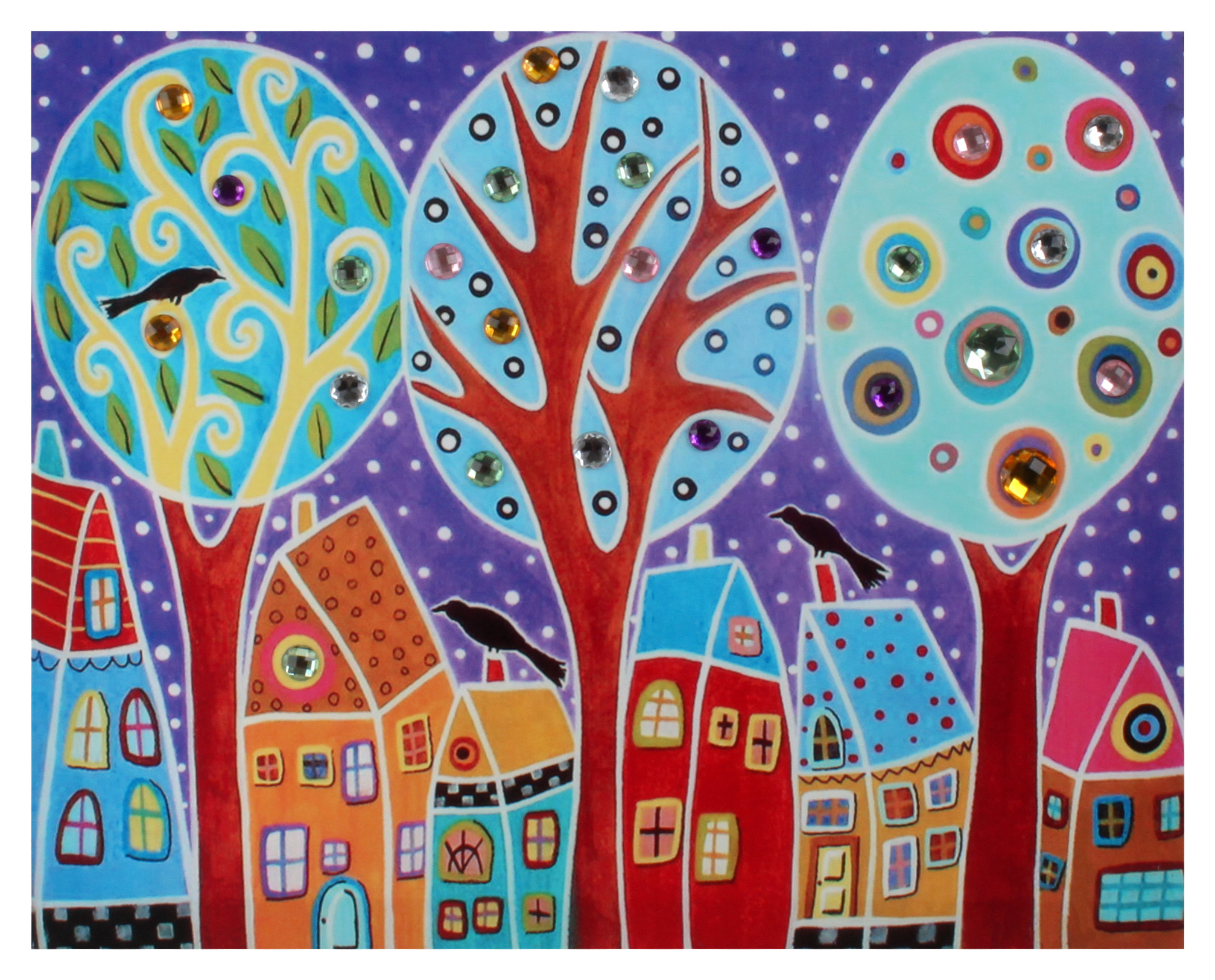€15 WALL PAINTING PRINTED CANVAS W/STONES 50Χ2Χ40