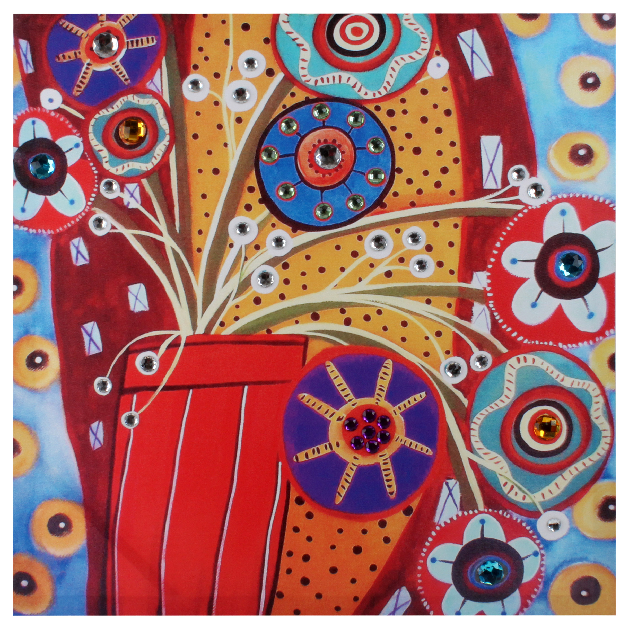 €20 WALL PAINTING PRINTED CANVAS W/STONES 60Χ2Χ60