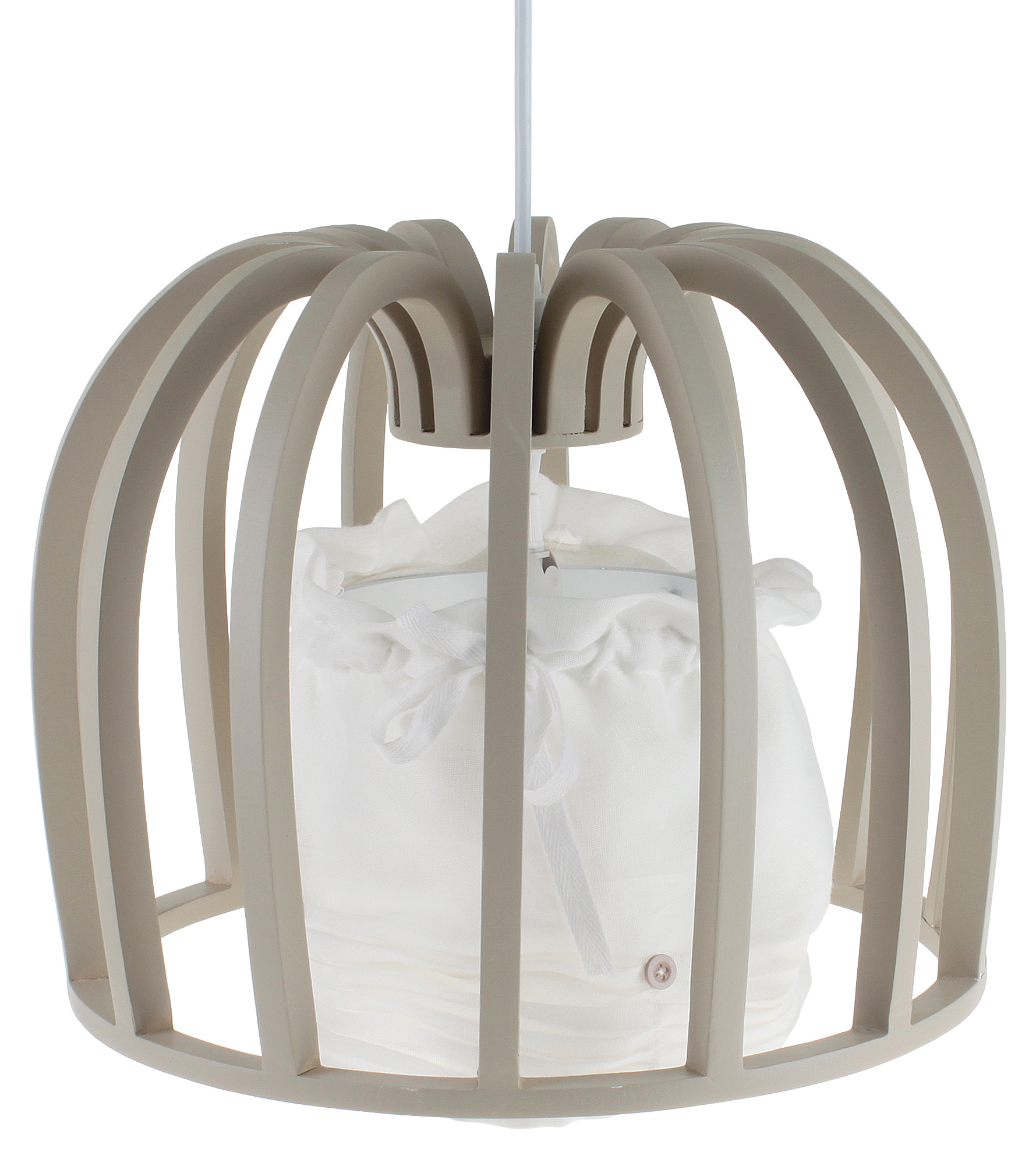 €112 WOODEN CEILING LAMP IN NATURAL COLOR 50X50/98