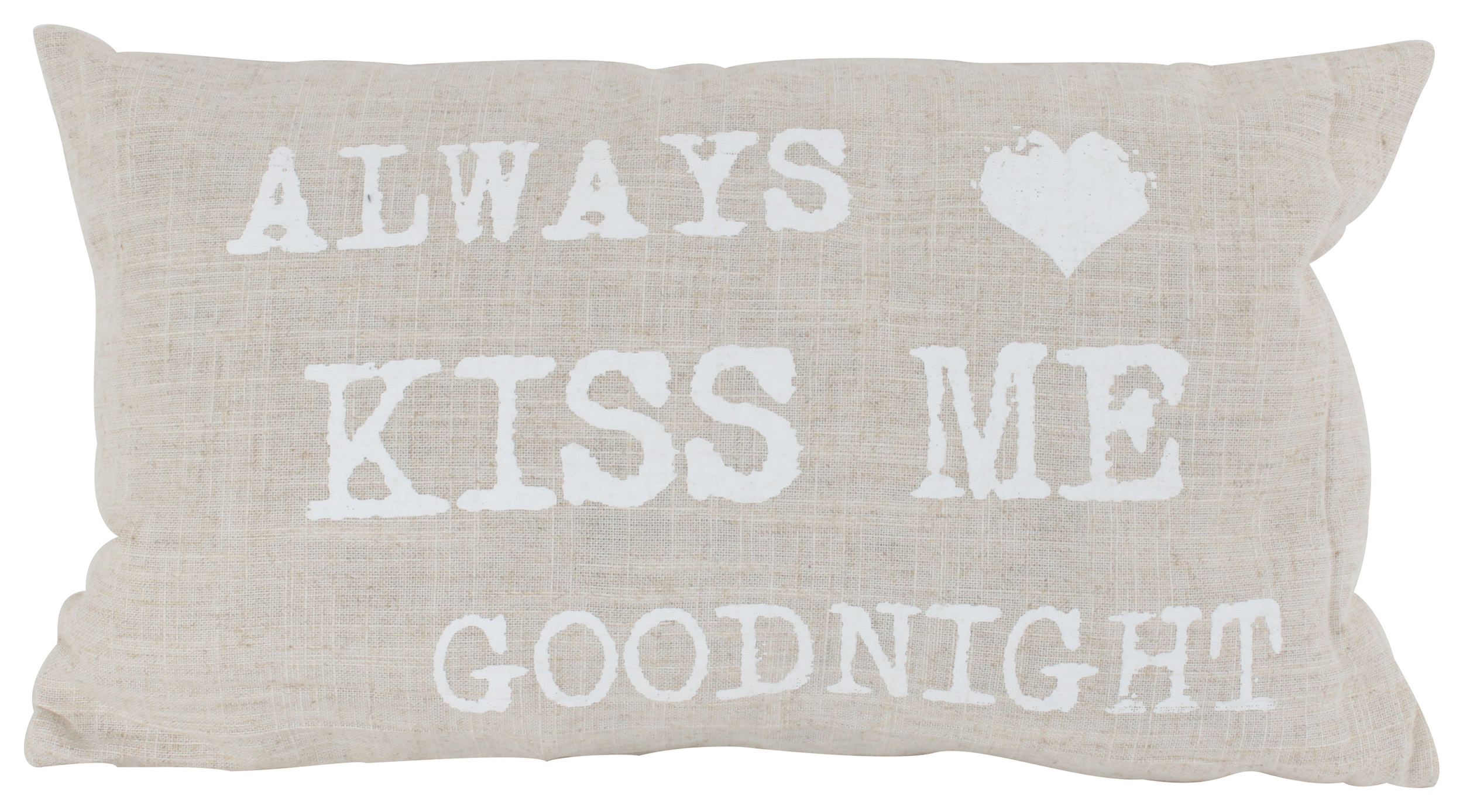 €17 FABRIC FILLING CUSHION 'ALWAYS' IN BEIGE COLOR 30Χ50 (80% COTTON,20%POLYESTER)