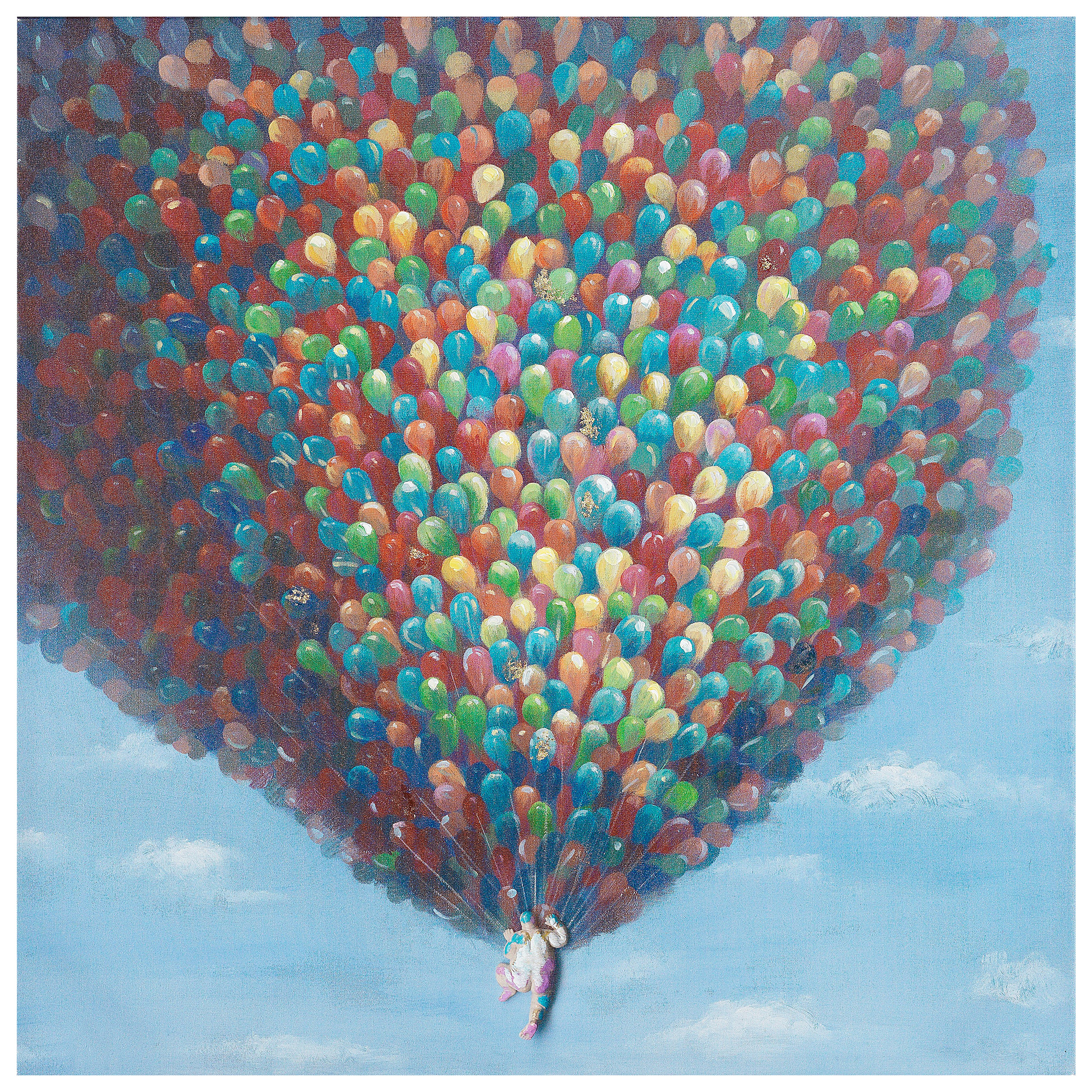 €66 OIL PAINTING WITH BALLOONS 80X80