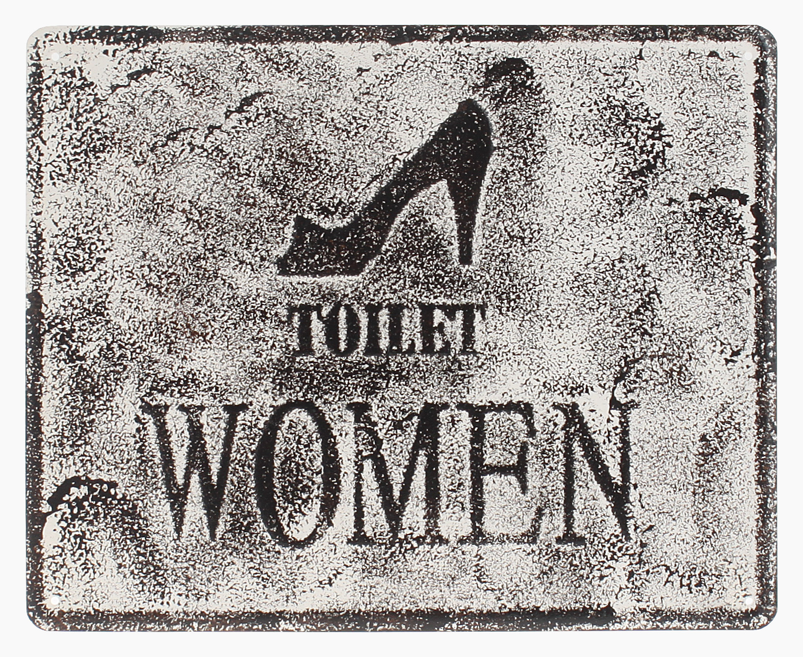 €15 METAL WALL PAINTING  'TOILET WOMEN' 25X20