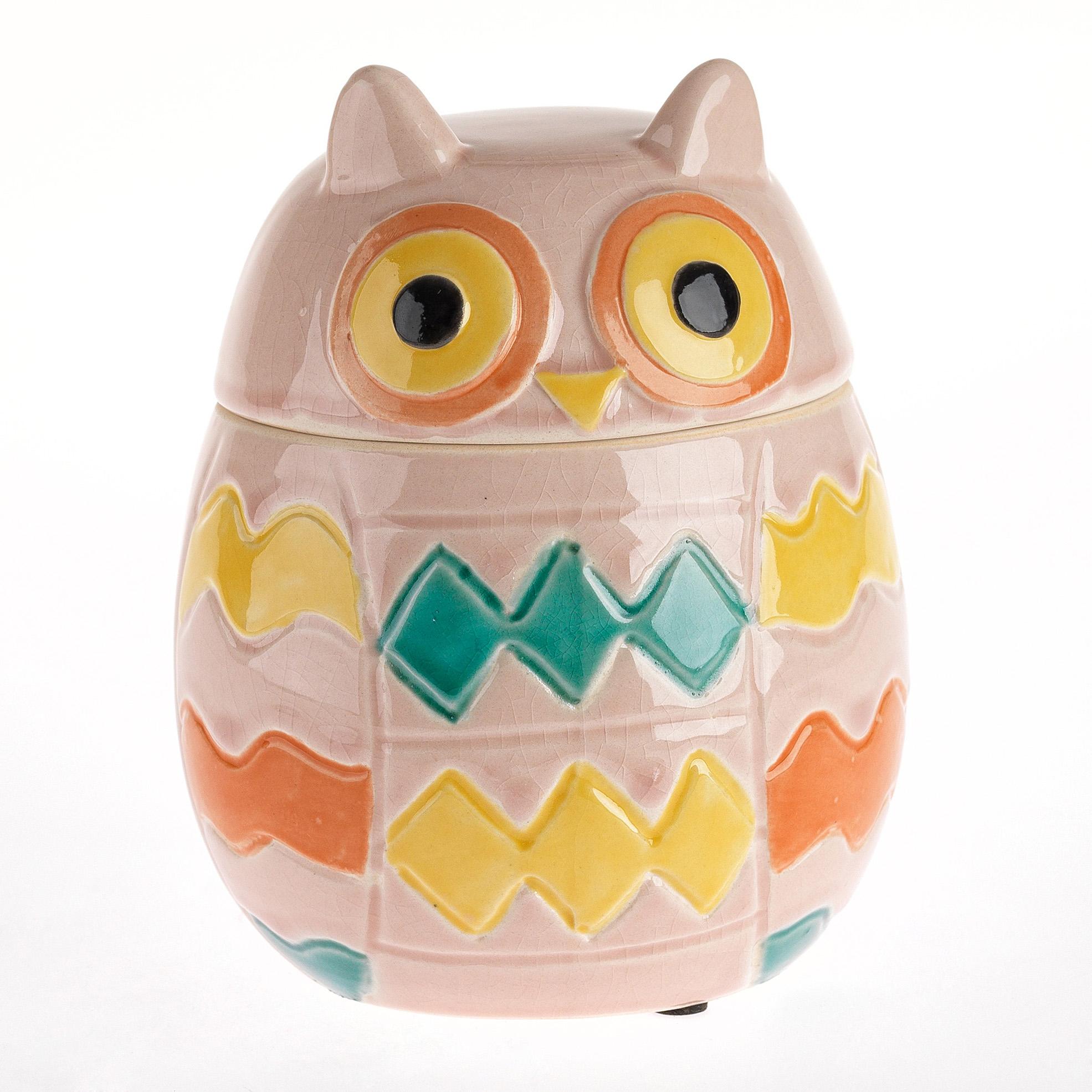 €22 CERAMIC OWL/BOX IN PINK COLOR 14X14X17,5