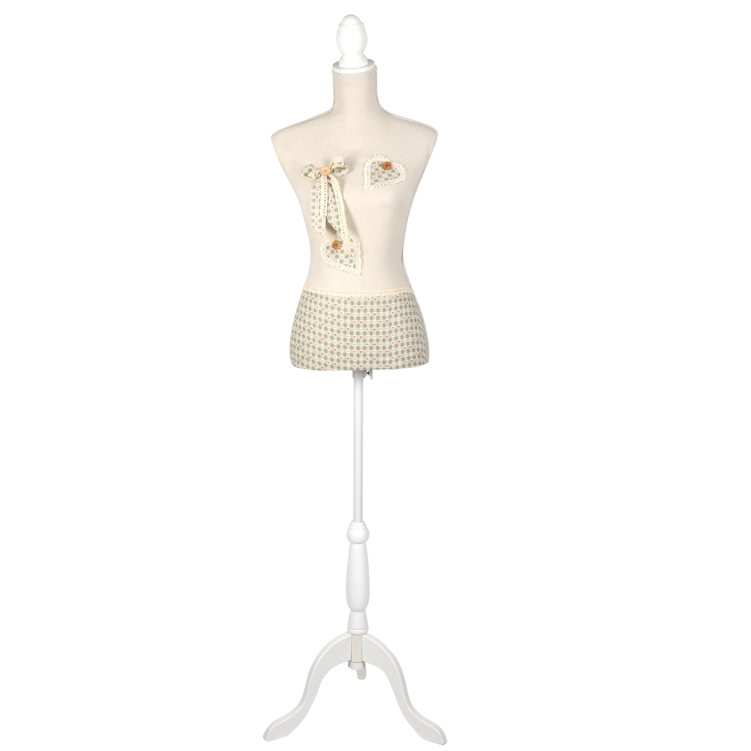€100 POLYRESIN FLOOR MANNEQUIN W/FABRIC COVER 34X165