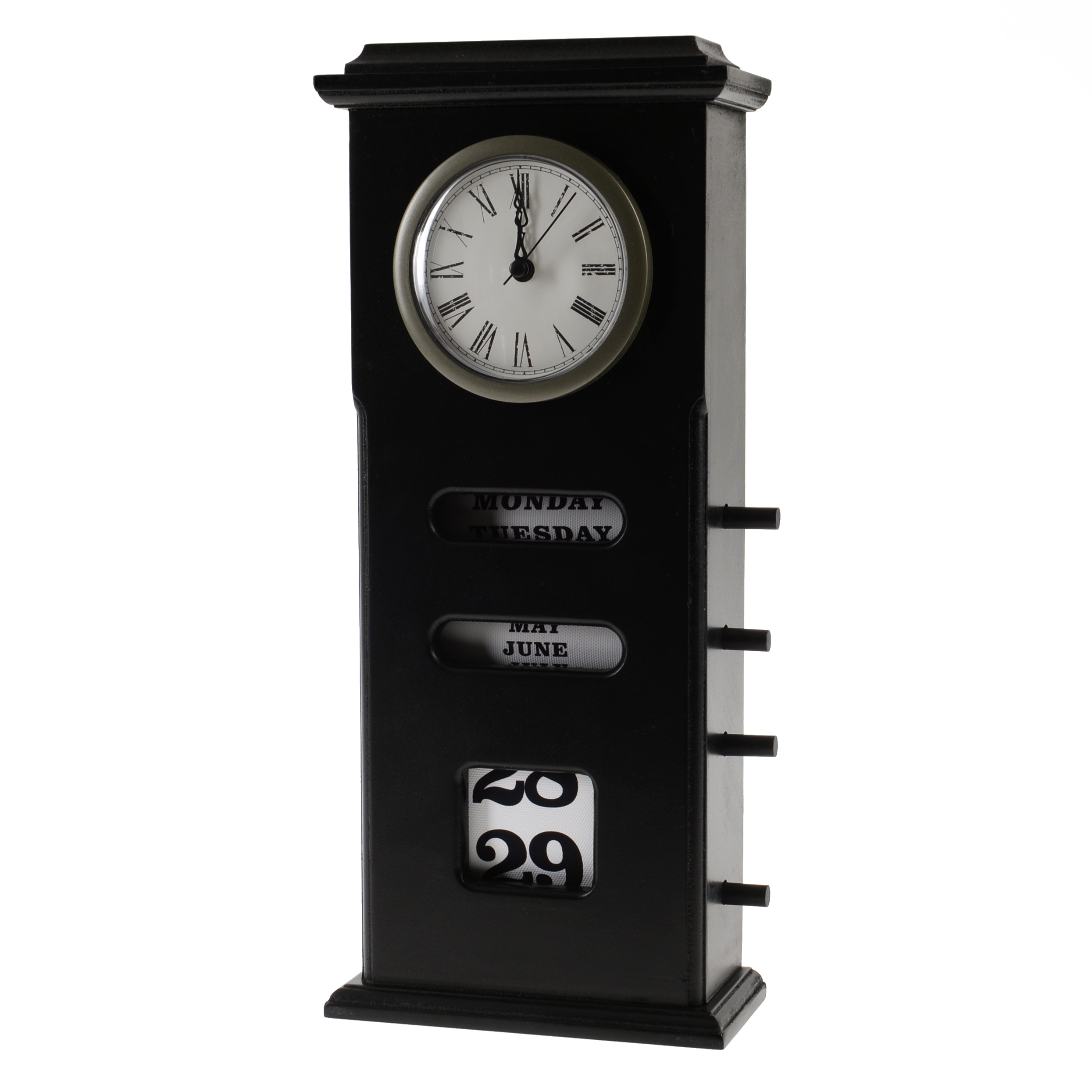 €32 MDF TABLE CLOCK IN BLACK COLOR 17X17X37