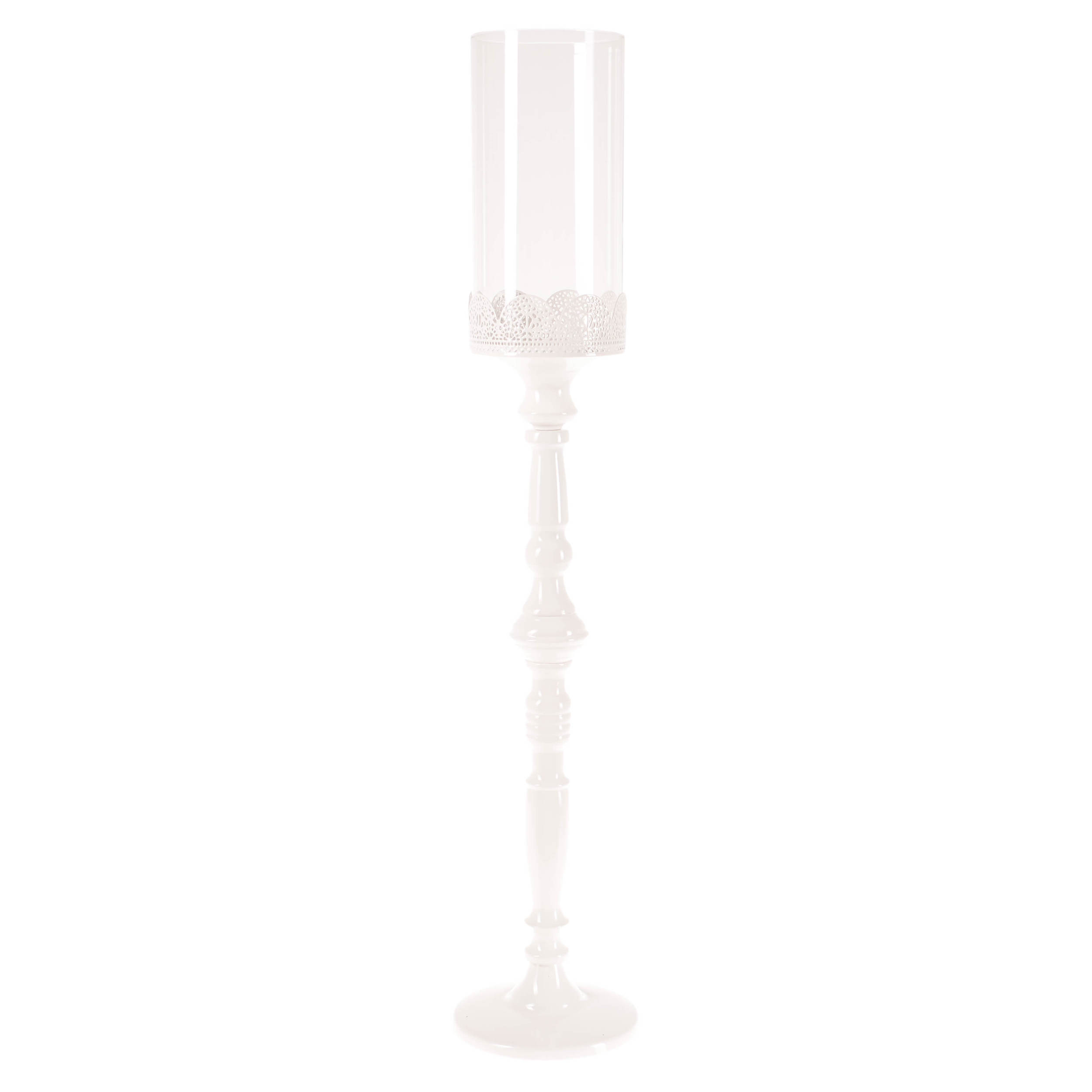 €44 METAL CANDLE HOLDER IN WHITE COLOR 13X66.5