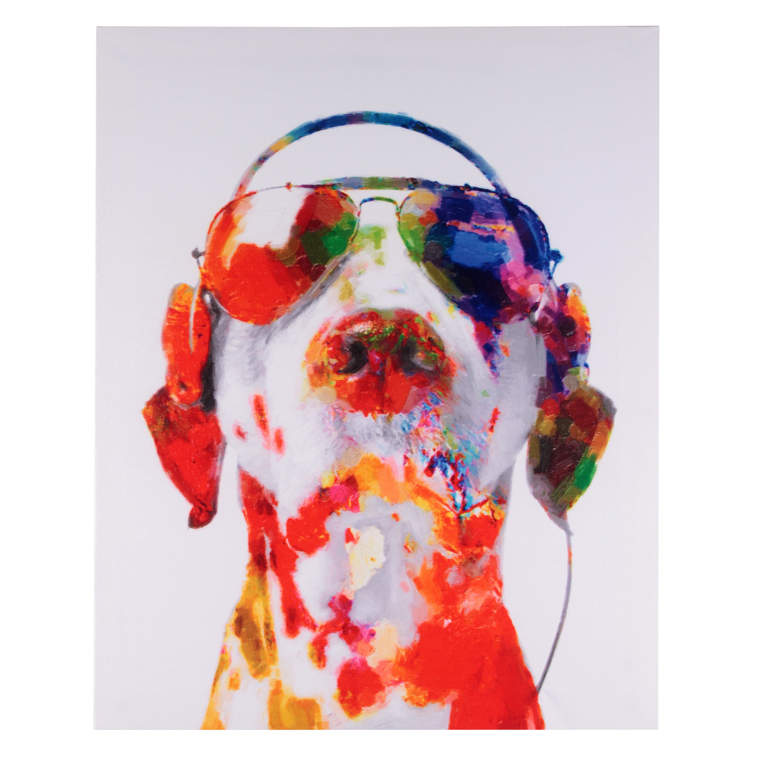 €18 PRINTED CANVAS PAINTING W/DOG 40X2X60