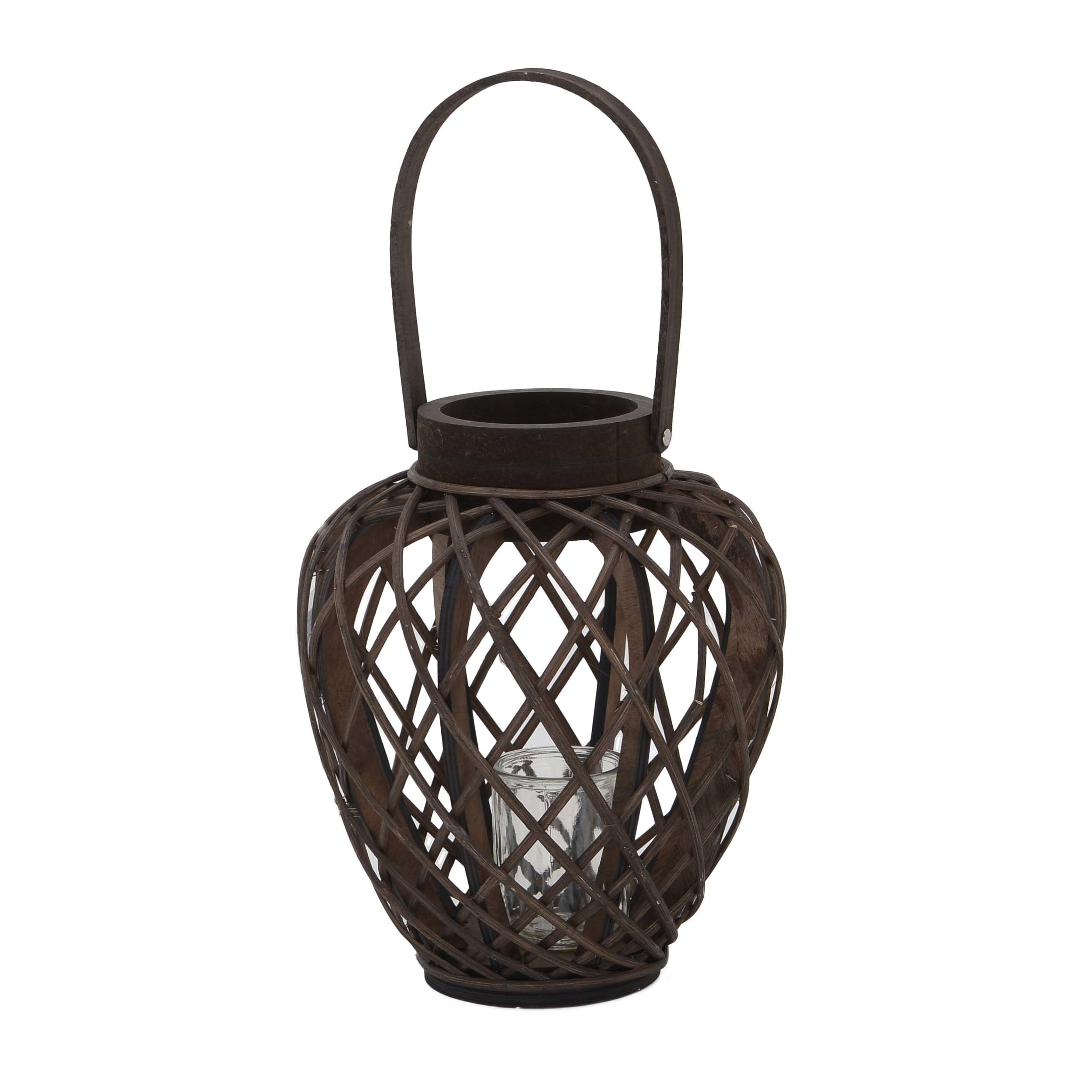 €34 WILLOW LANTERN IN BROWN COLOR 28X28X34/53