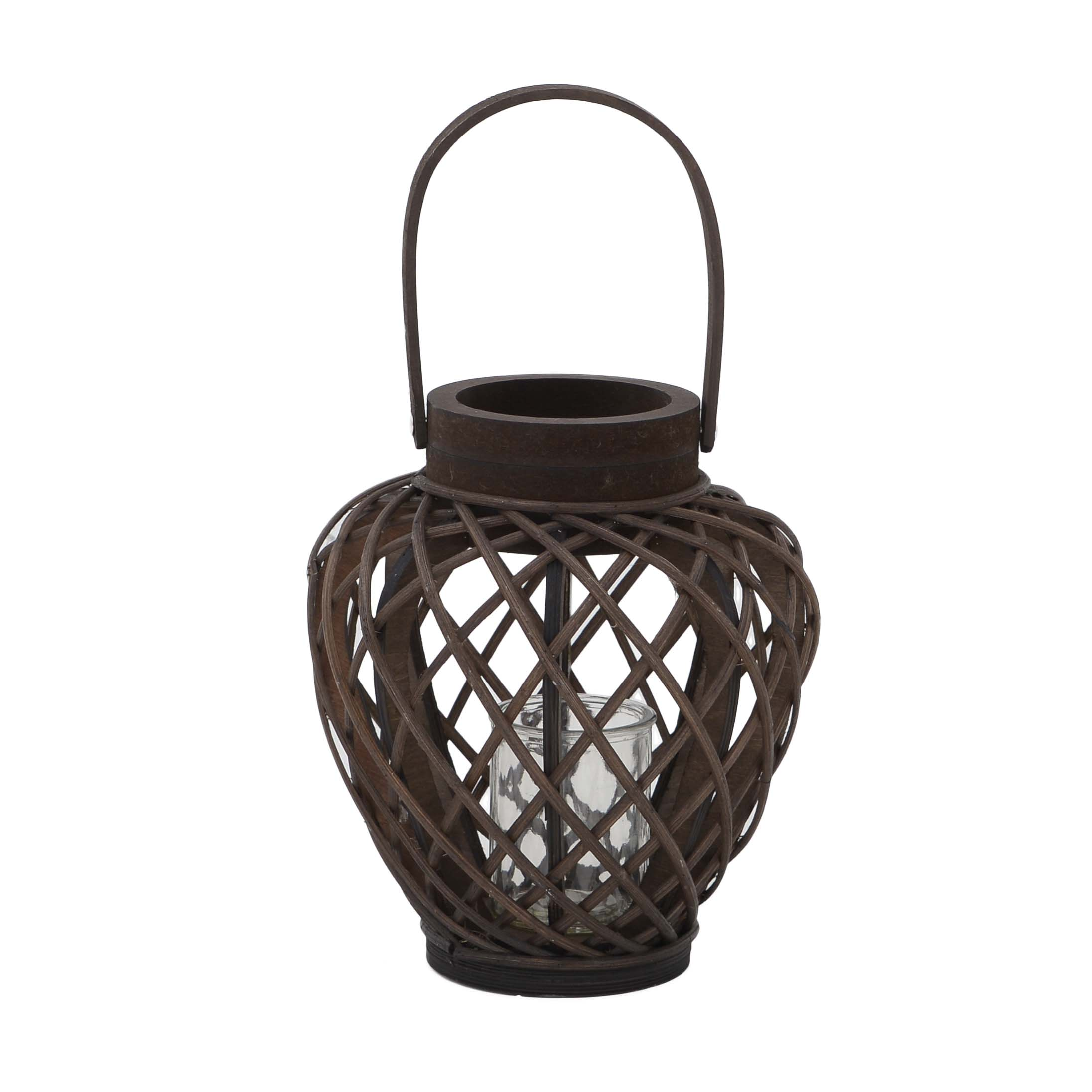 €32 WILLOW LANTERN IN BROWN COLOR 24X24X28/43