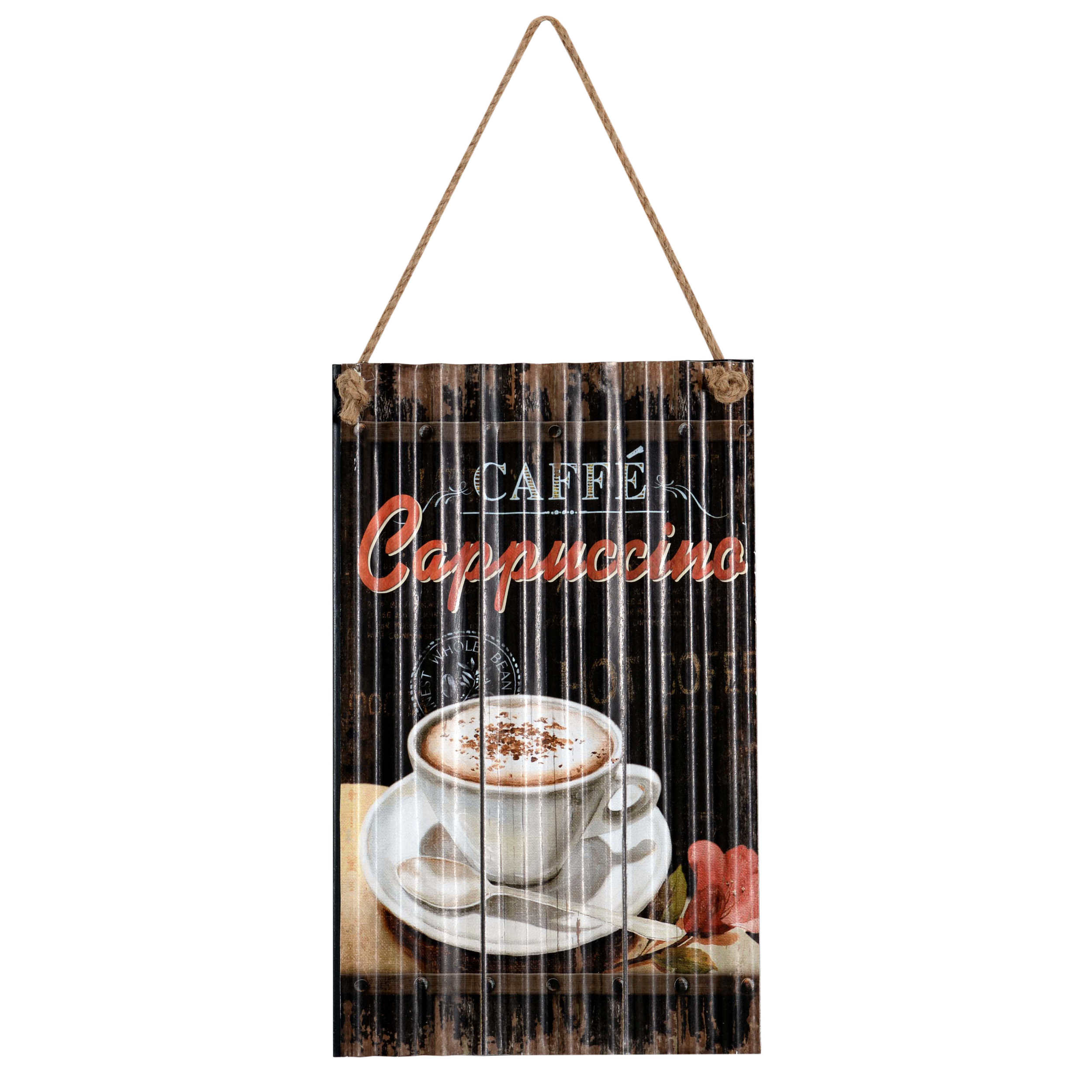 €12 METAL WALL PAINTING 'CAPPUCCINO' BROWN 23X1X38/58