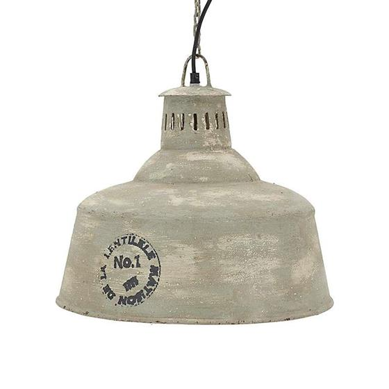 €140 METAL CEILING LAMP IN GREY/OLIVE COLOR 38Χ38Χ36/152