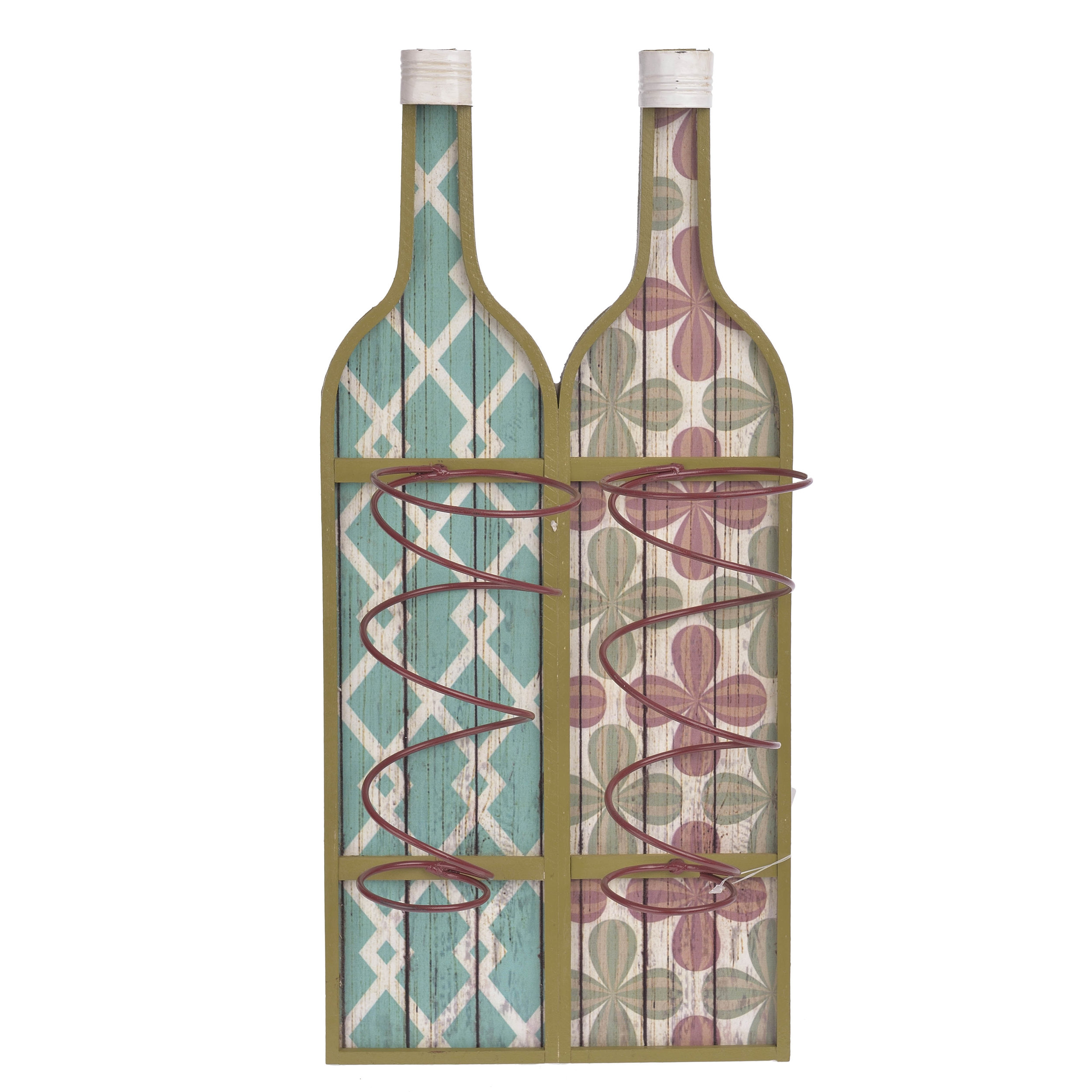 €42 WOODEN WALL BOTTLE HOLDER IN MULTI COLOR 22X11X47