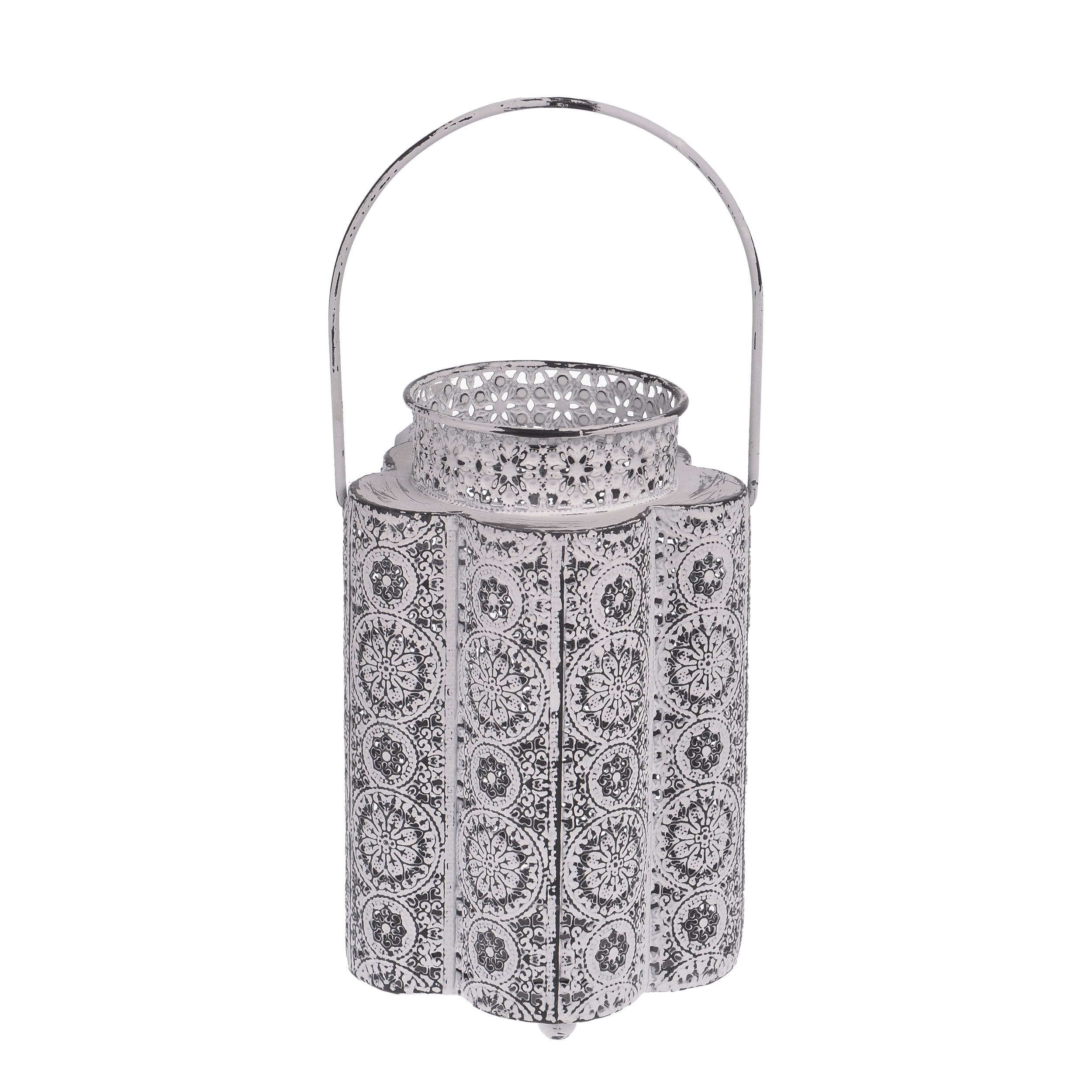 €34 METAL LANTERN IN WHITE COLOR 14Χ14Χ22