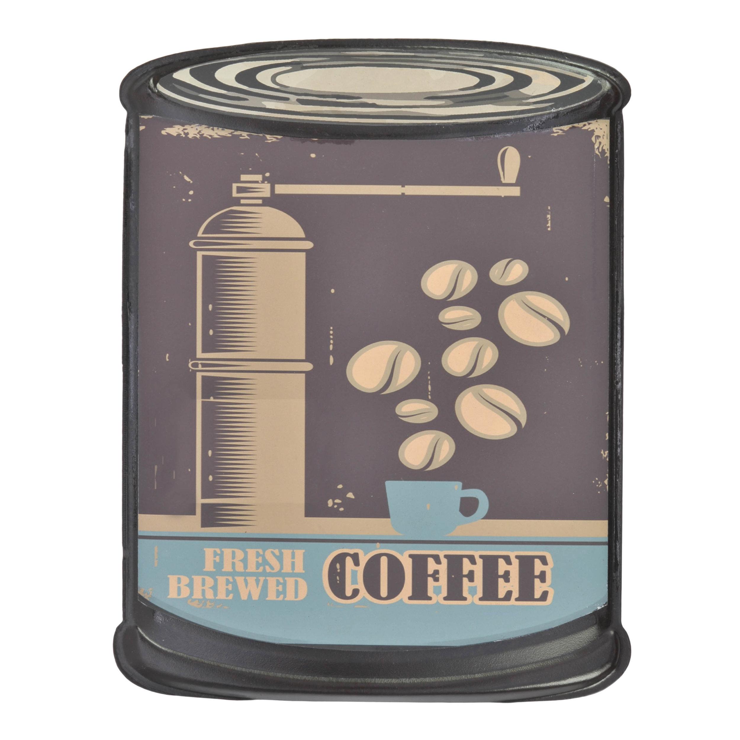 €9 METAL WALL DECOR 'COFFEE' 20X26