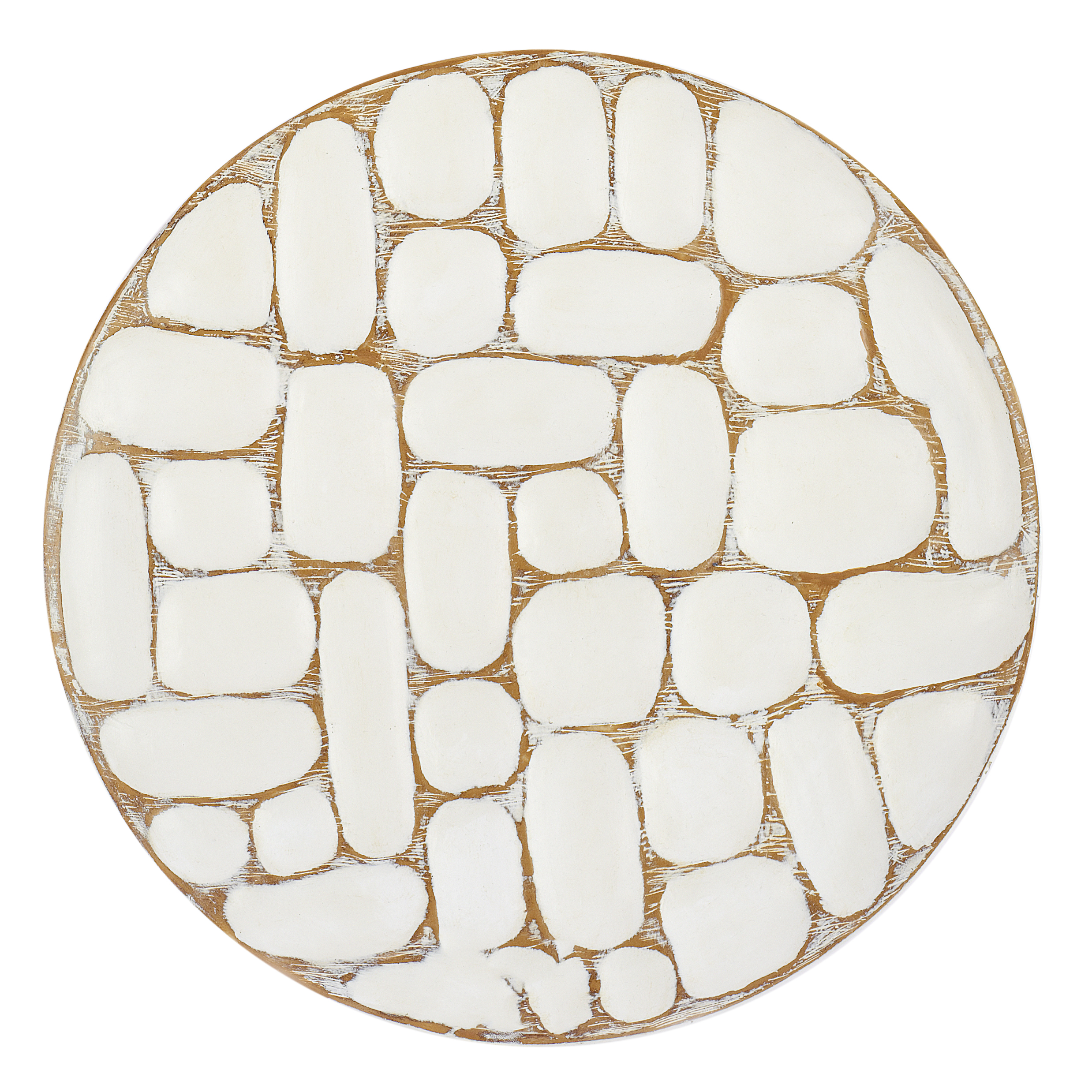 €50 POLYRESIN PLATE IN WHITE/BROWN D-35(6)