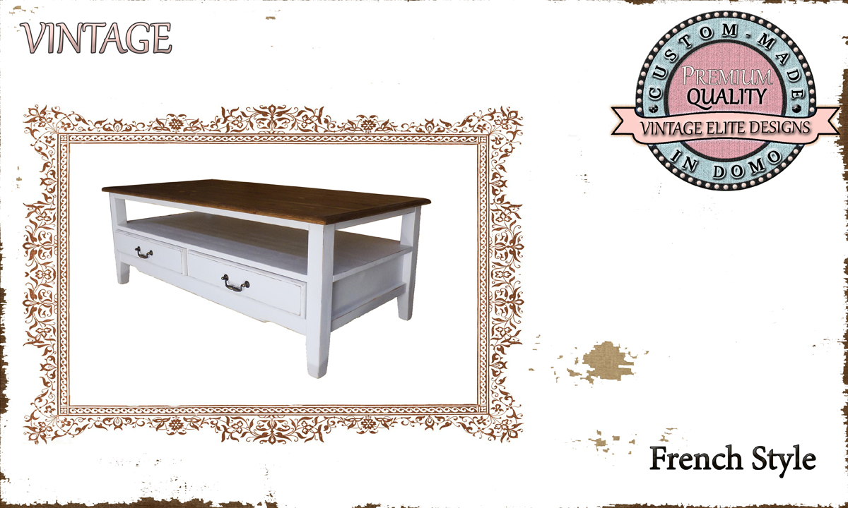 CUSTOM-MADE COFFEE TABLE PERSONALIsED BY YOUR CHOICE OF PAINTS AND DIMENSIONS. 100X57X44 (TO ORDER AT €450)