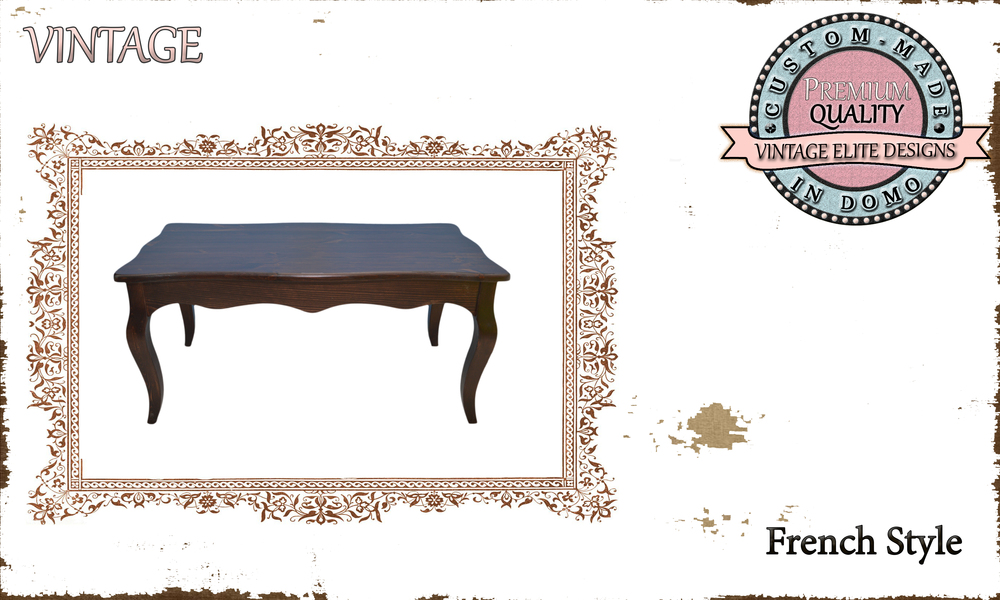 CUSTOM-MADE FRENCH STYLE coffee table PERSONALIsED BY YOUR CHOICE OF PAINTS AND DIMENSIONS. 90x50x42 (TO ORDER AT €250)