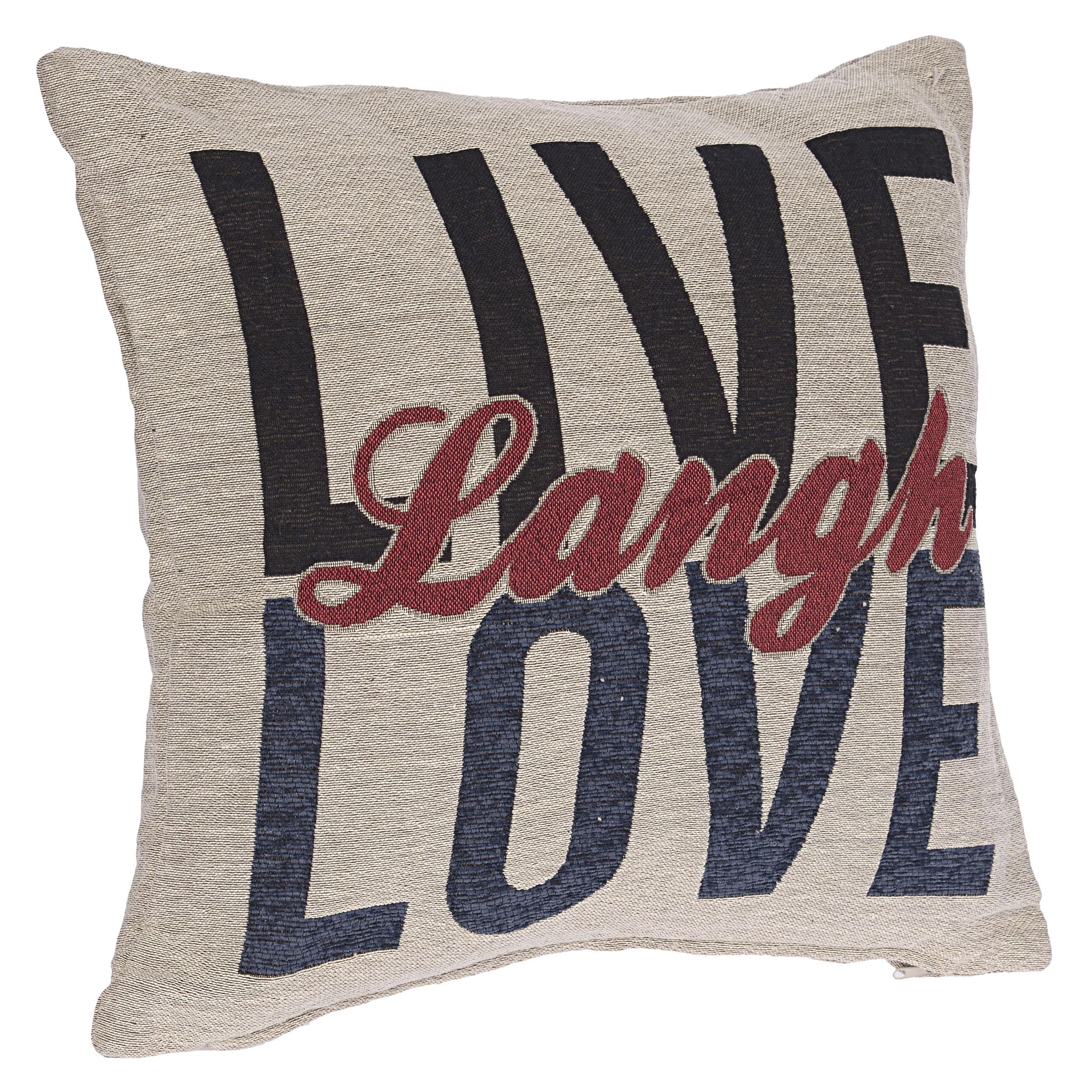 €26 FABRIC CUSHION  'LOVE/LOVE' 45X45